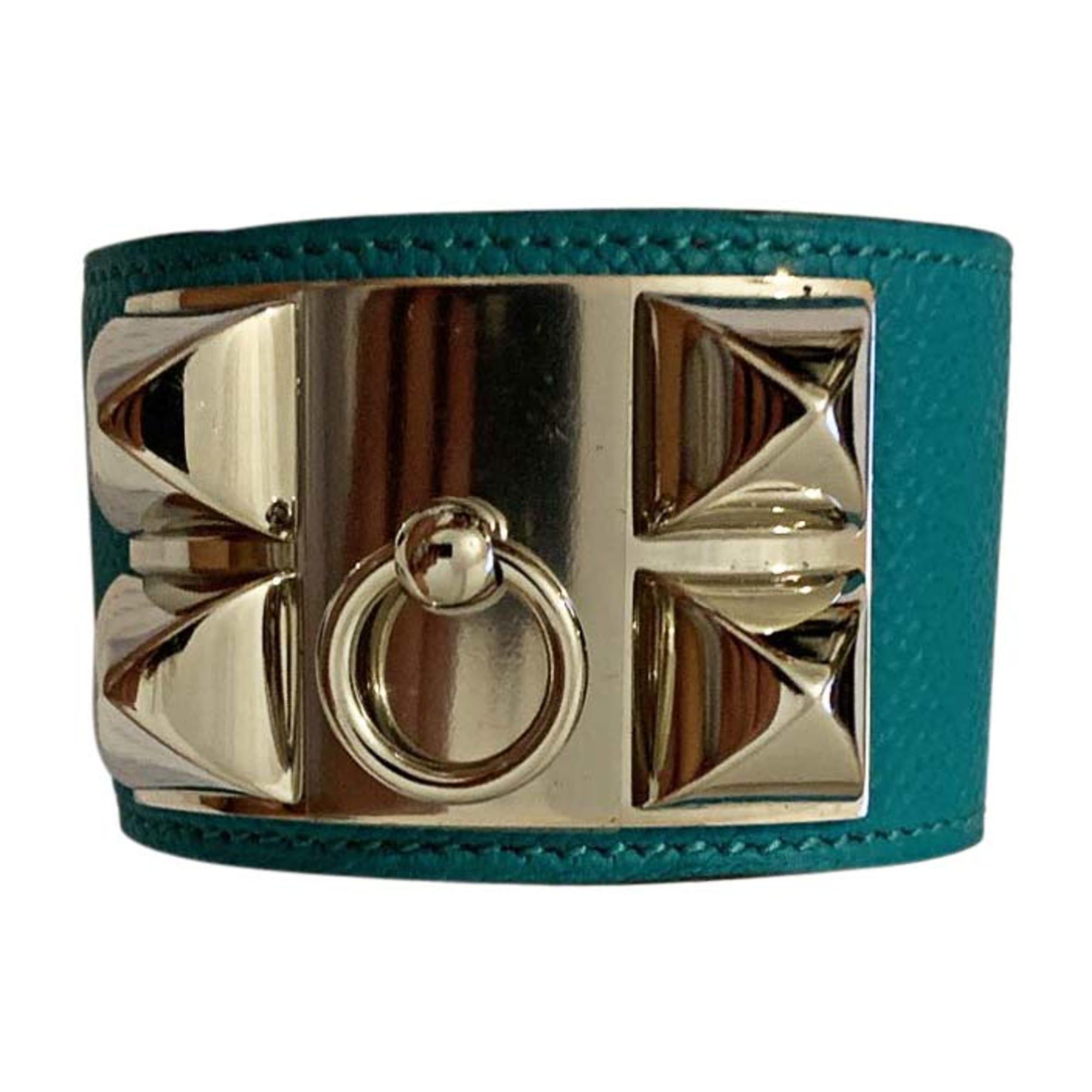 Bracelet HERMÈS Collier de Chien Bleu, bleu marine, bleu turquoise