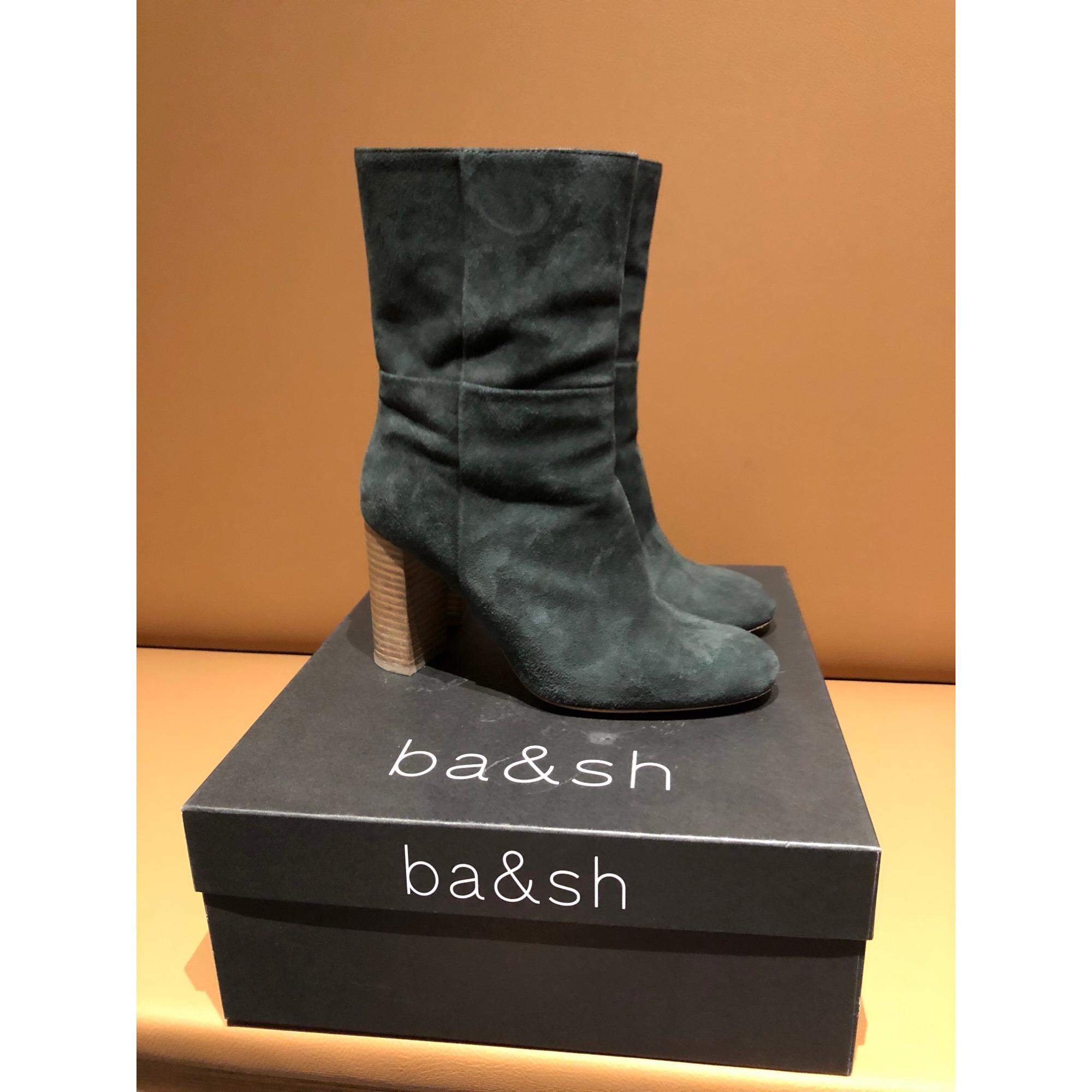 Bottines & low boots à talons BA&SH Bleu, bleu marine, bleu turquoise