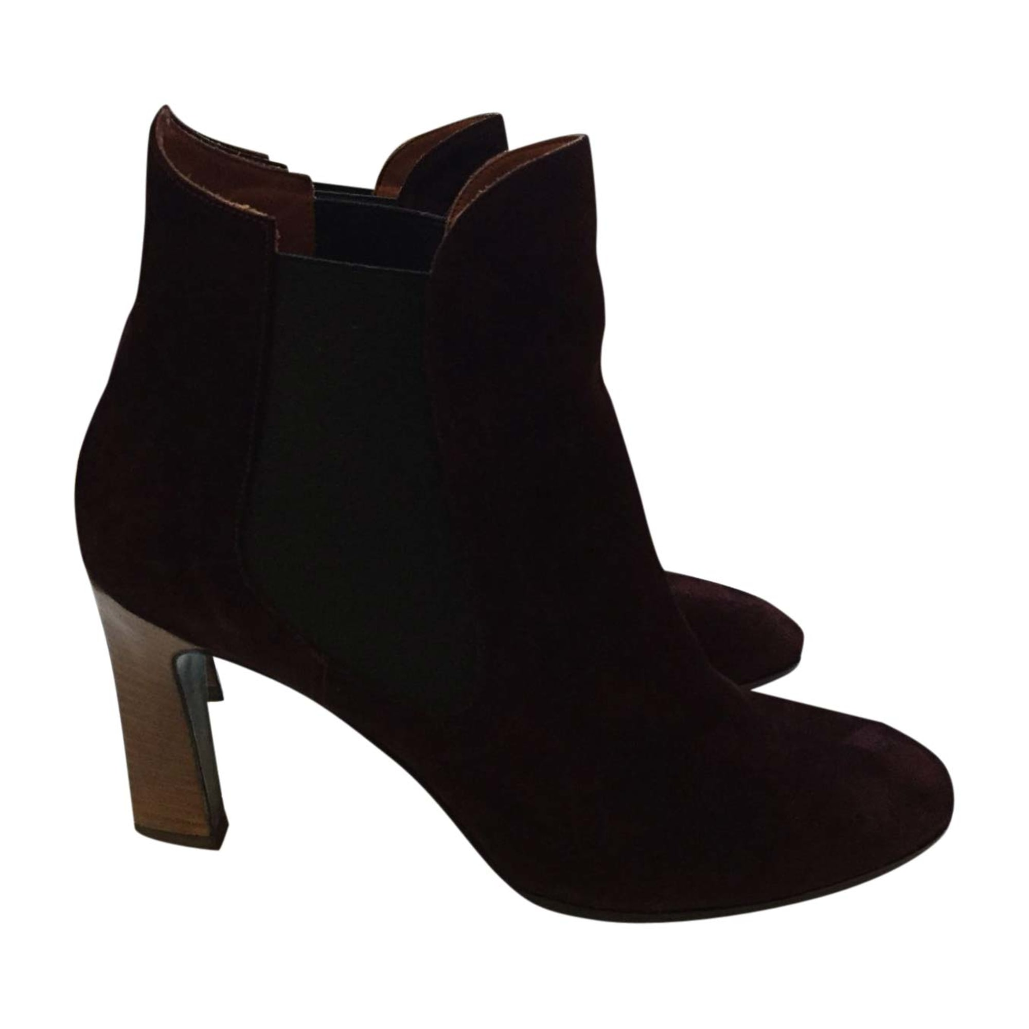 High Heel Ankle Boots MICHEL VIVIEN Red, burgundy