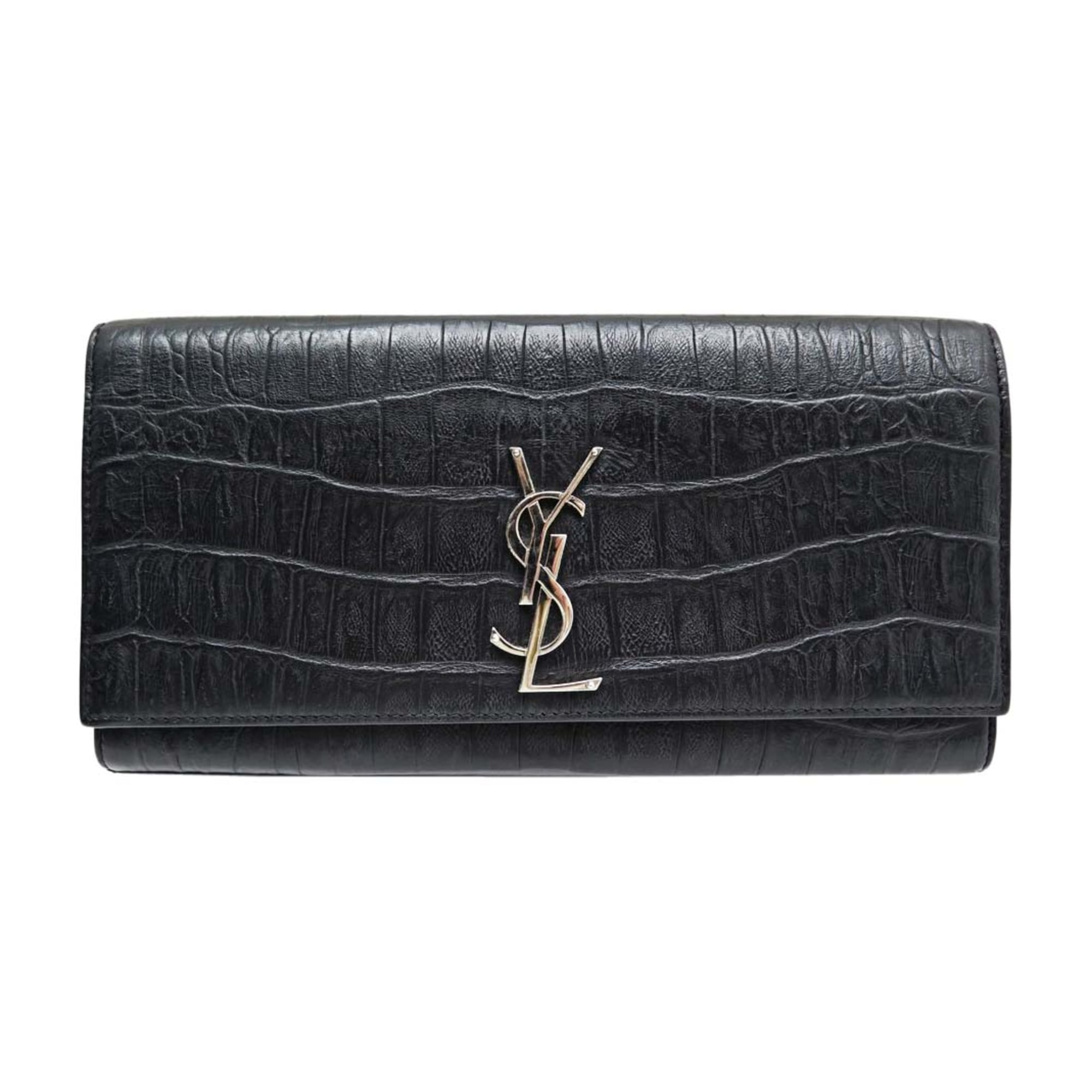 Leather Clutch SAINT LAURENT Black