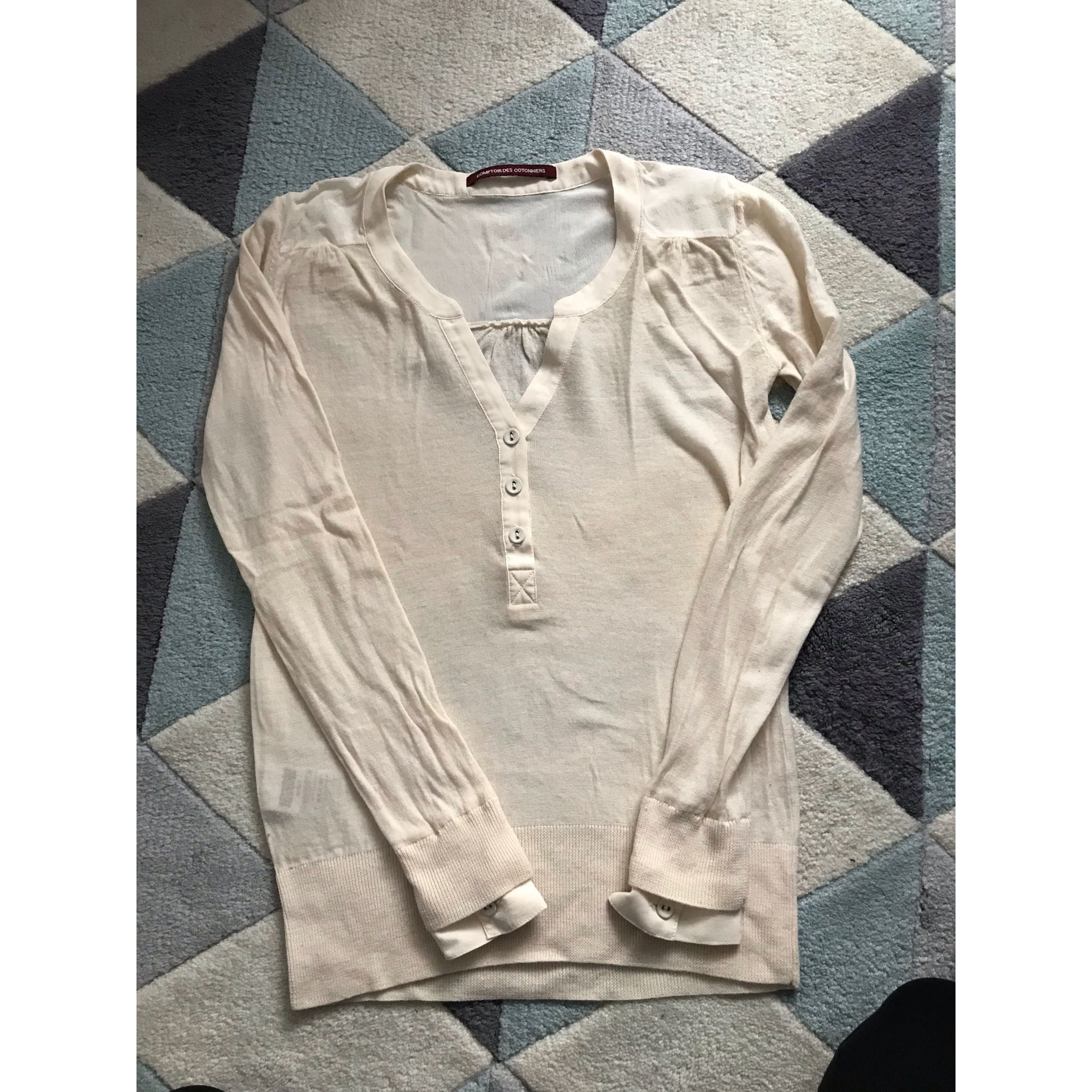 Sweater COMPTOIR DES COTONNIERS White, off-white, ecru