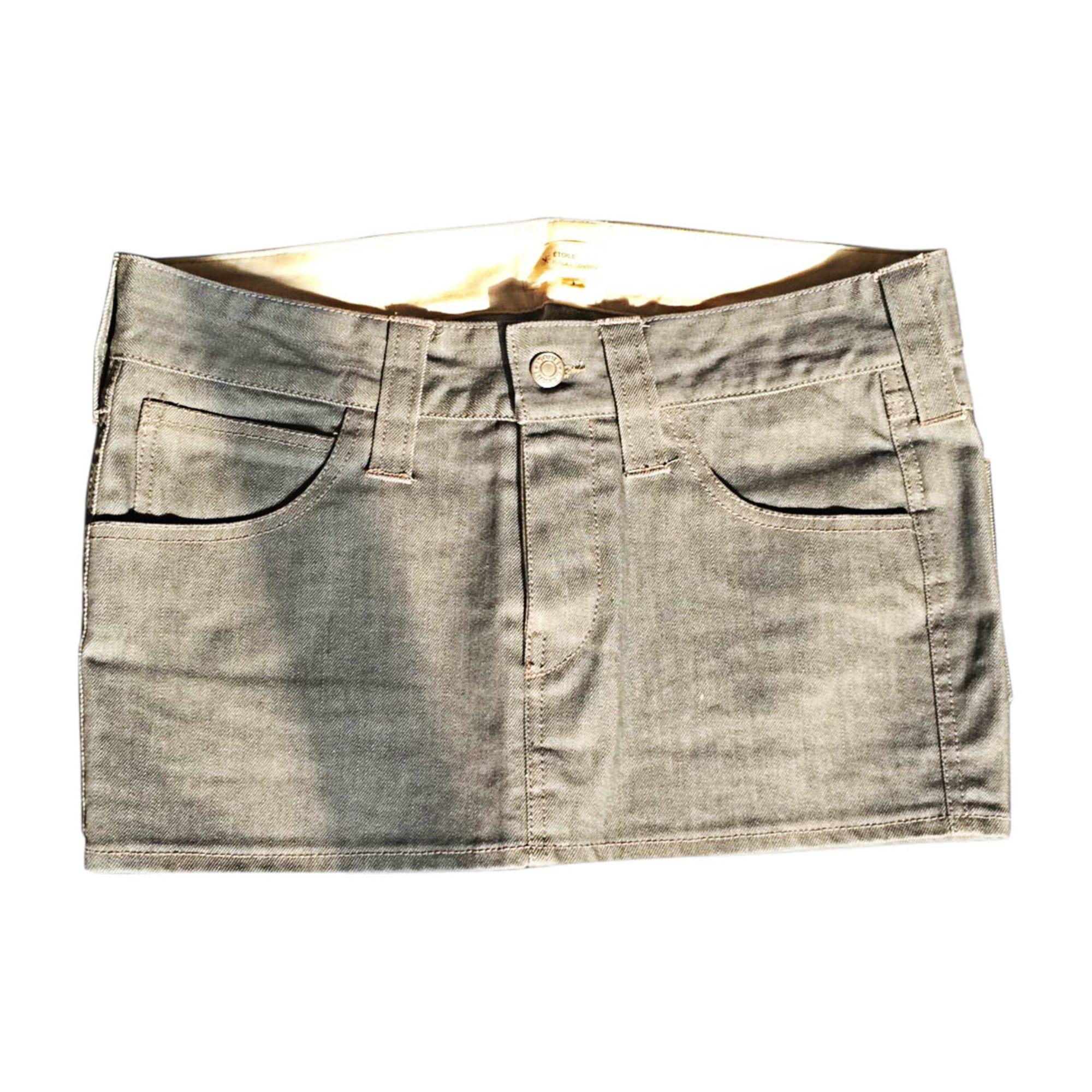 Mini Skirt ISABEL MARANT ETOILE Jean gris/bleu