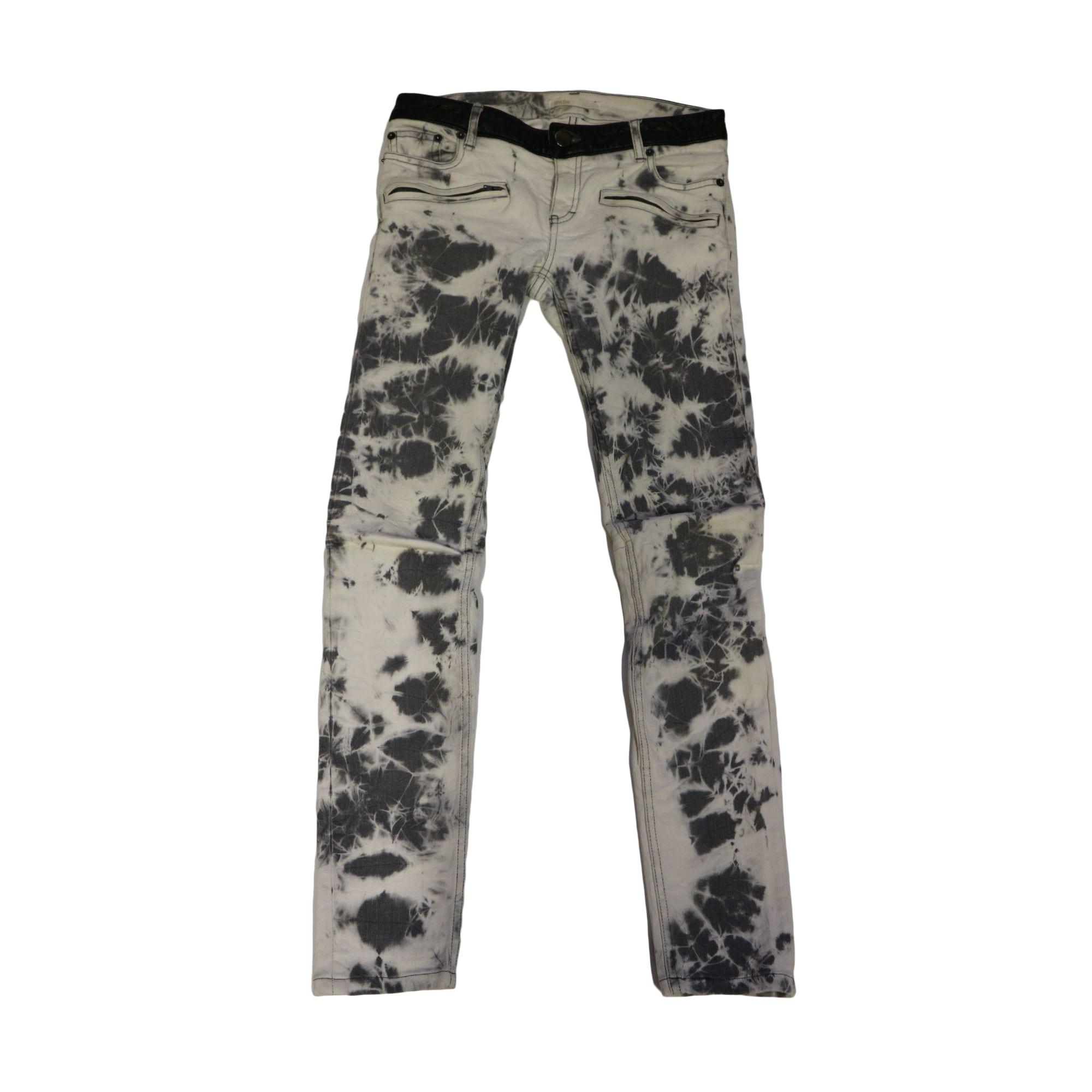 Jeans droit MAJE Gris, anthracite