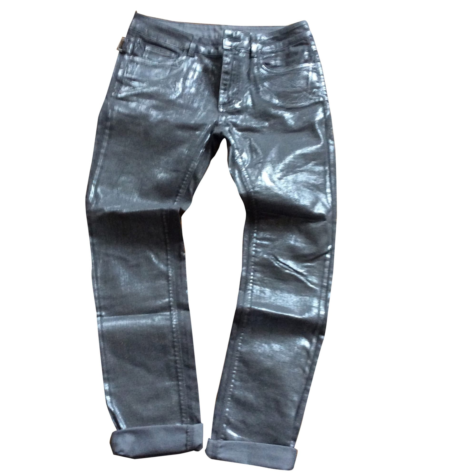 Jeans dritto ZADIG & VOLTAIRE Argentato, acciaio