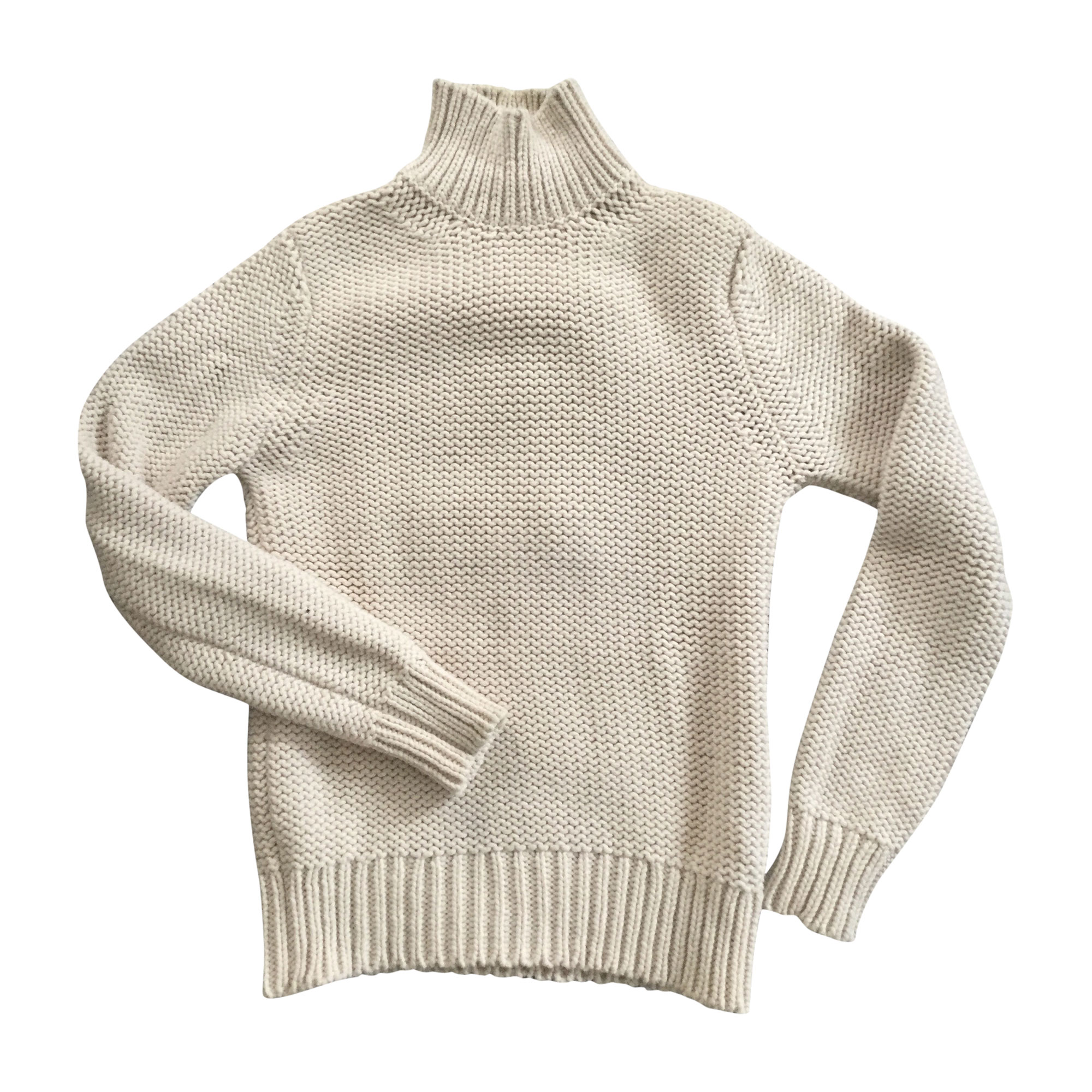 Sweater LOUIS VUITTON White, off-white, ecru