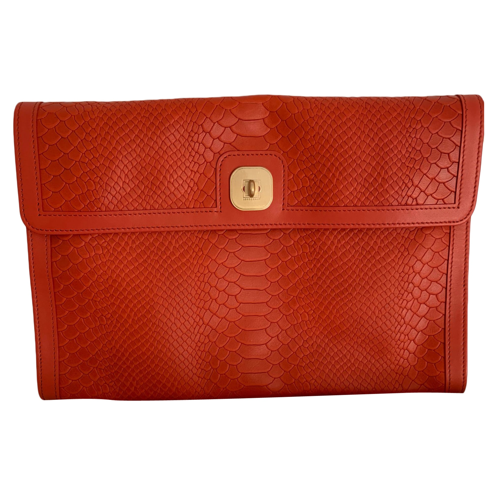 Leather Clutch LONGCHAMP Orange