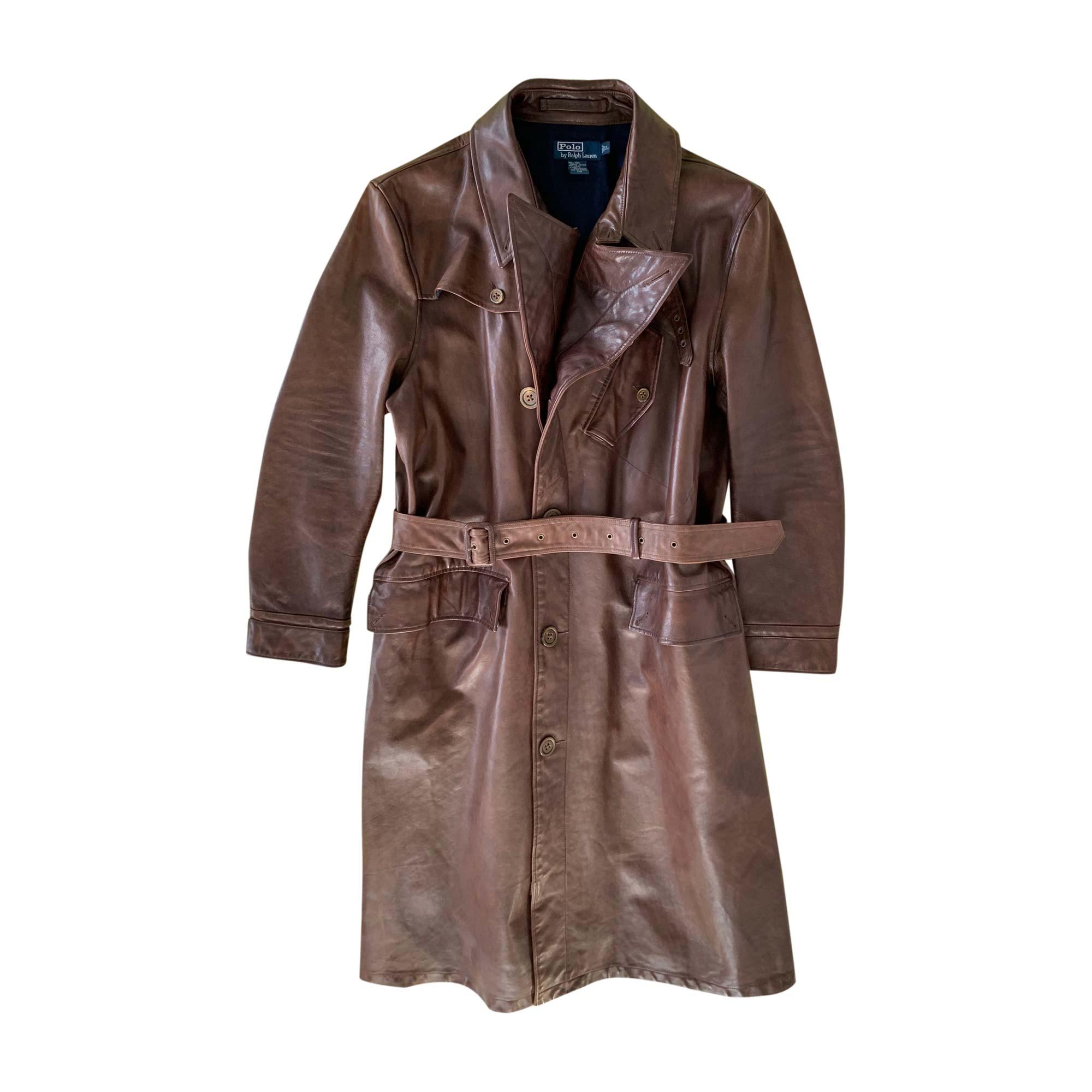 7be17d1de51 Manteau en cuir RALPH LAUREN 56 (XL) marron - 8508847