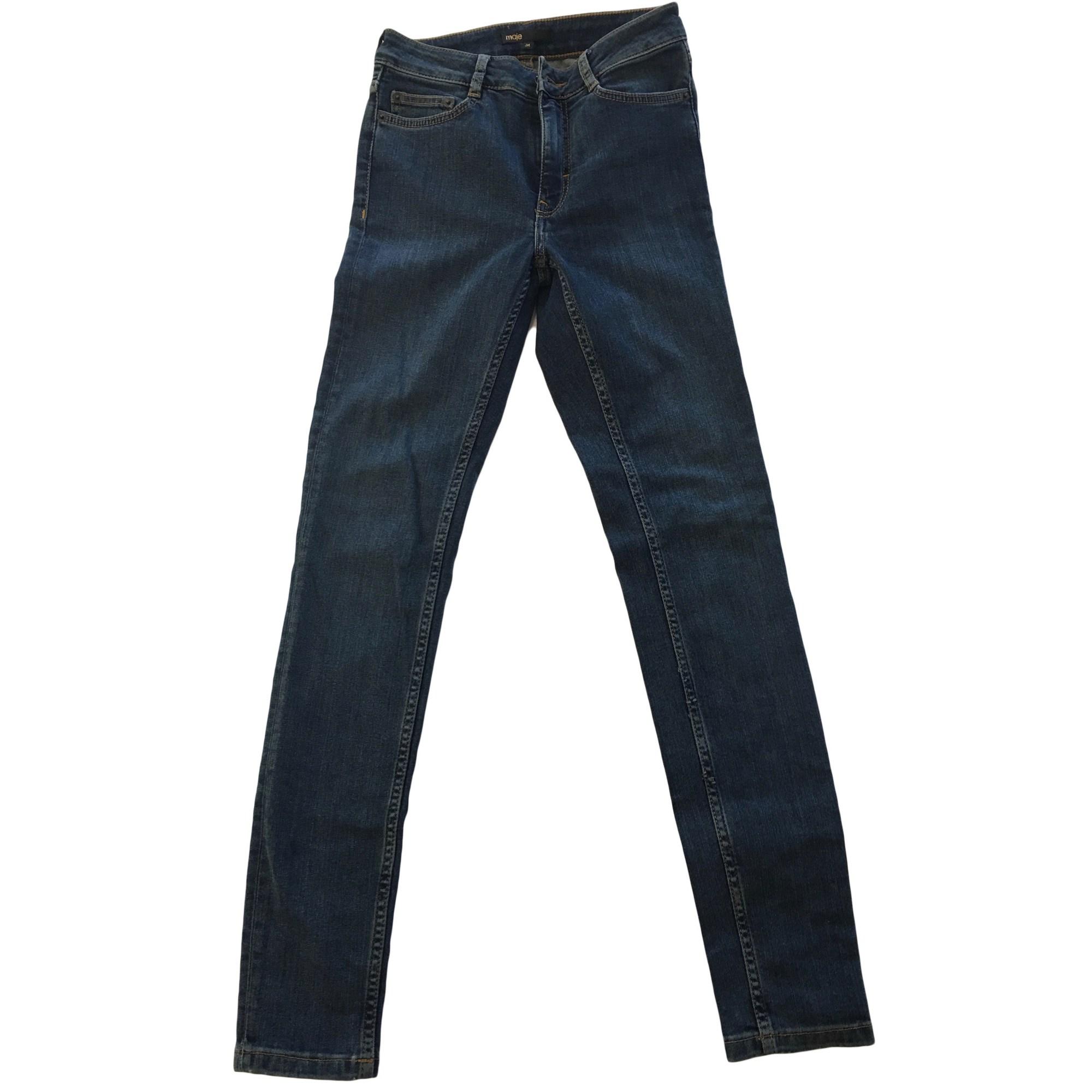 Jeans slim MAJE Blu, blu navy, turchese