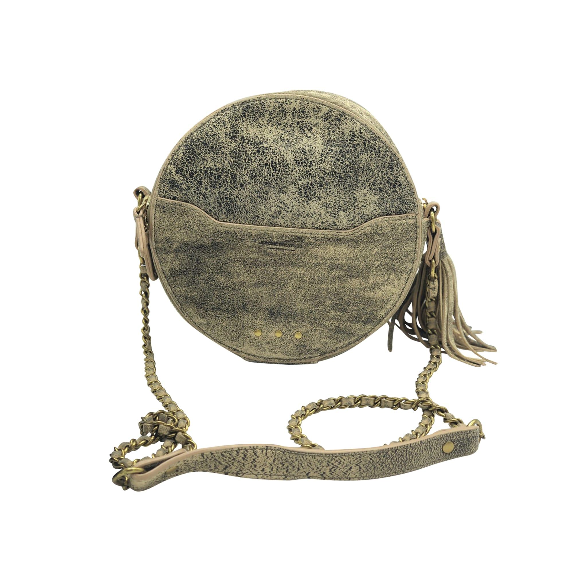 Leather Shoulder Bag JEROME DREYFUSS Beige, camel