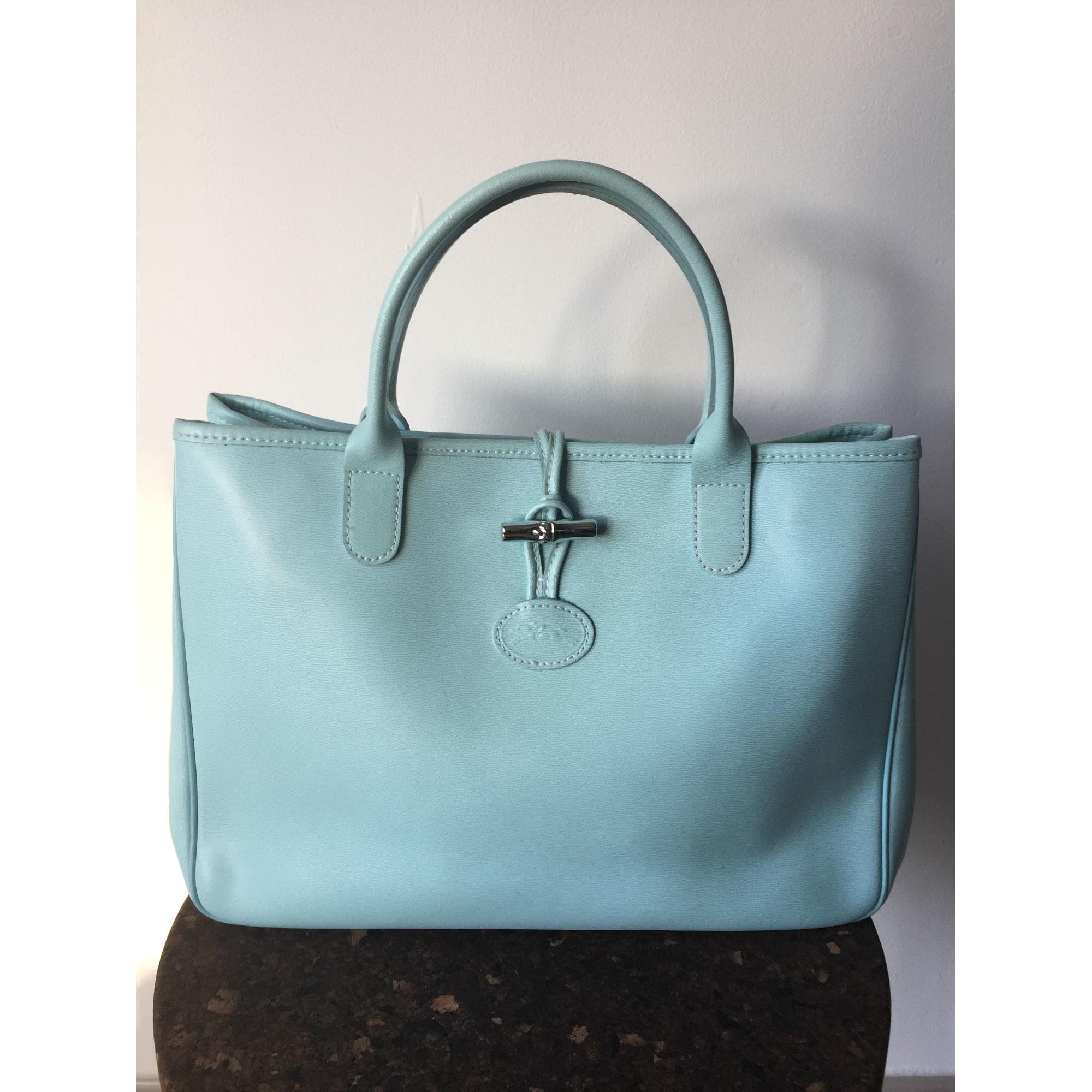 À Cuir Bleu Longchamp Main N08wvmn Sac 8512780 En DHWE9e2IYb