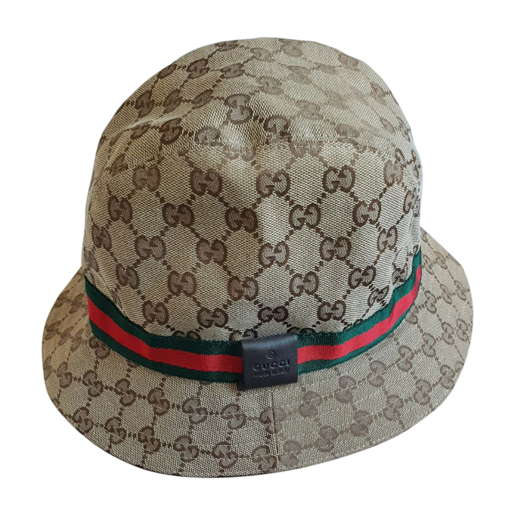 Cappello di tela GUCCI Marrone