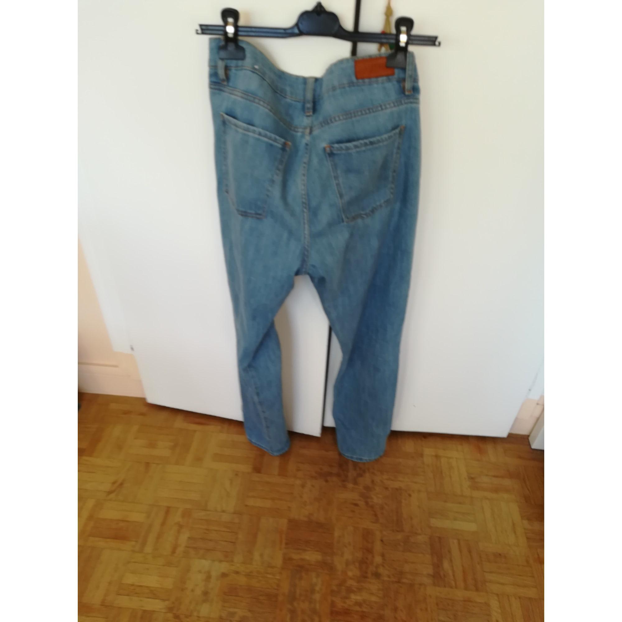 Jeans large, boyfriend SÉZANE Bleu denim