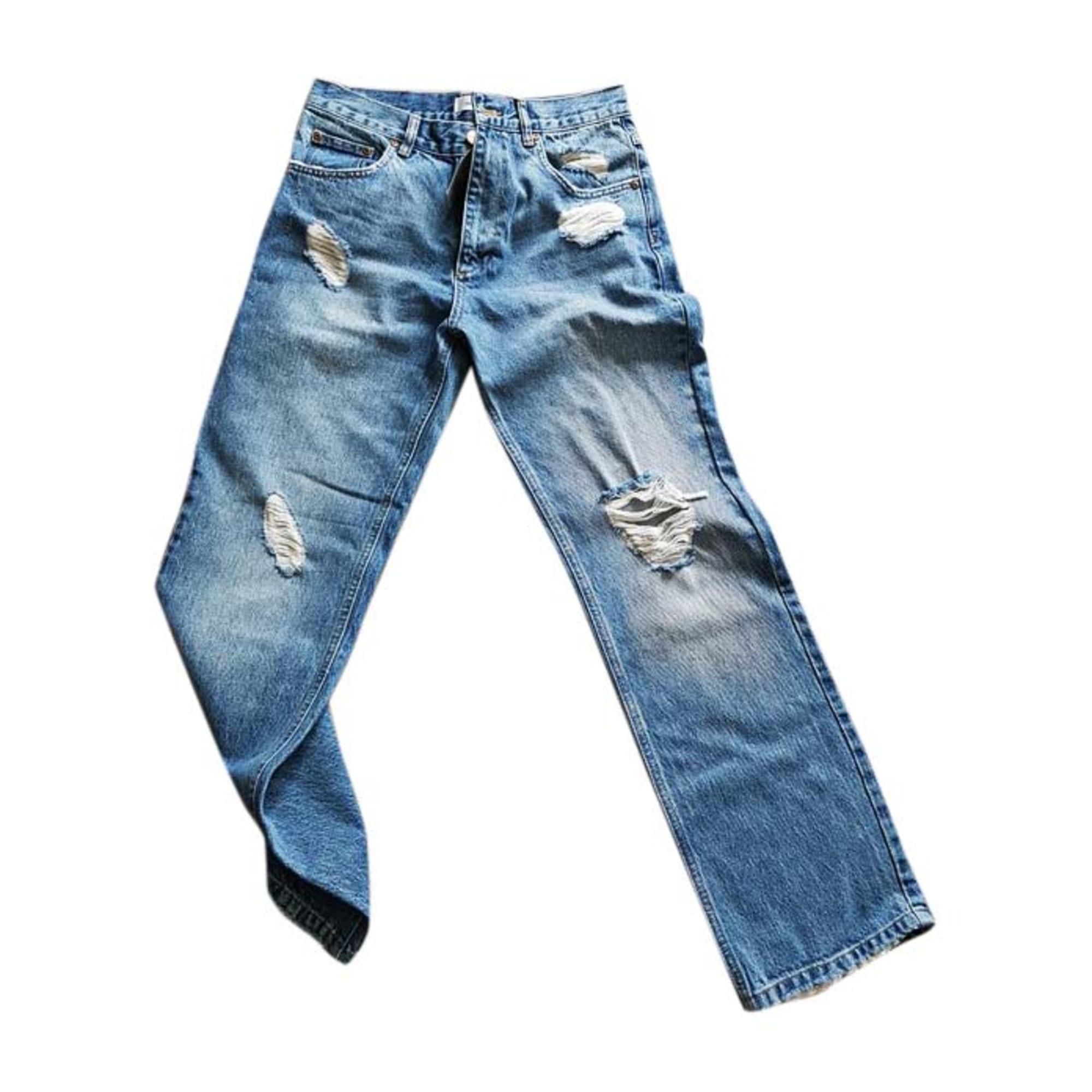 Jeans dritto ANINE BING Blu, blu navy, turchese