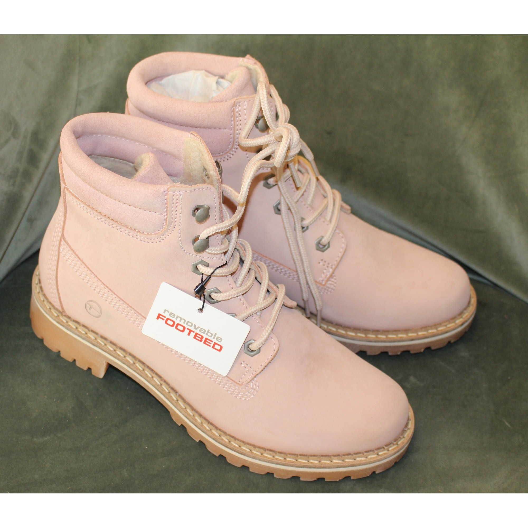 Bottines & low boots plates TAMARIS Rose, fuschia, vieux rose