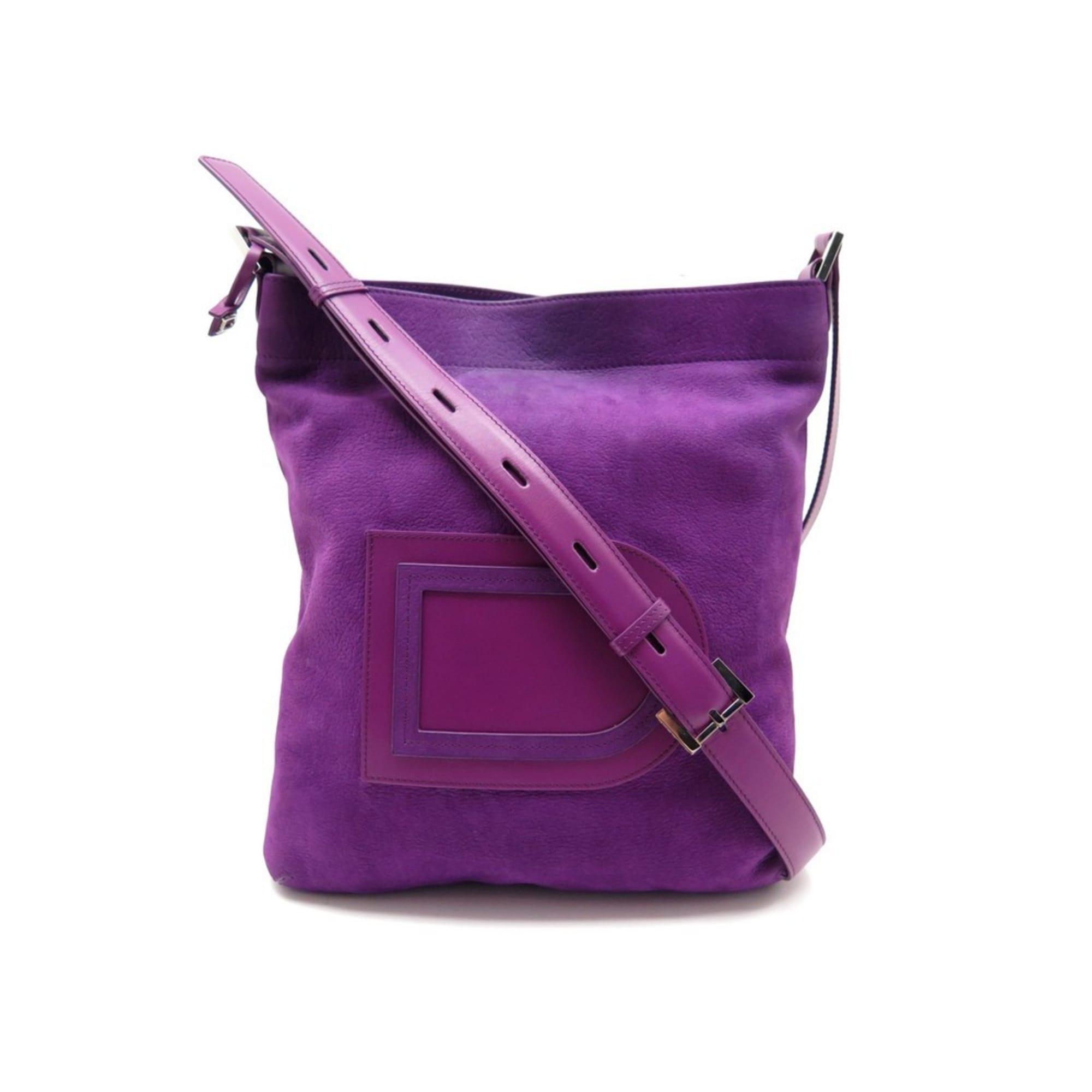 Sac à main en cuir DELVAUX cuir violet