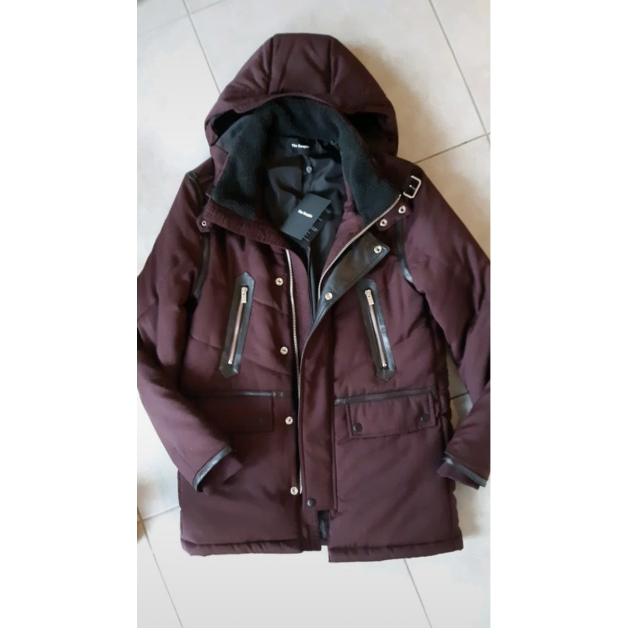 Parka THE KOOPLES Rouge, bordeaux