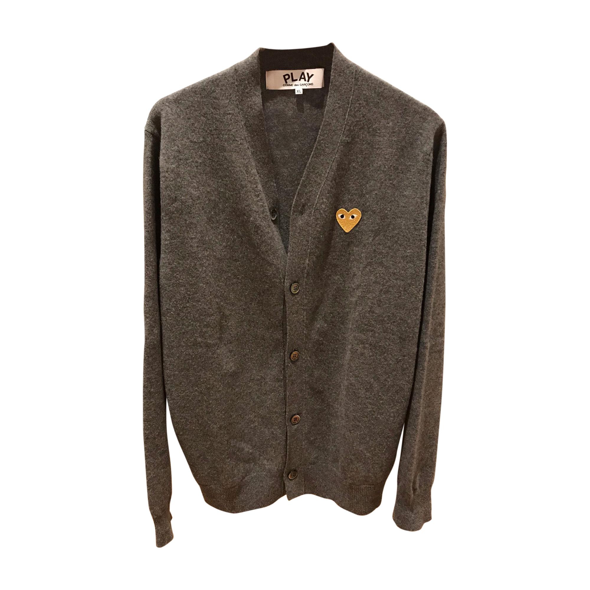 Vest, Cardigan COMME DES GARÇONS PLAY Gray, charcoal