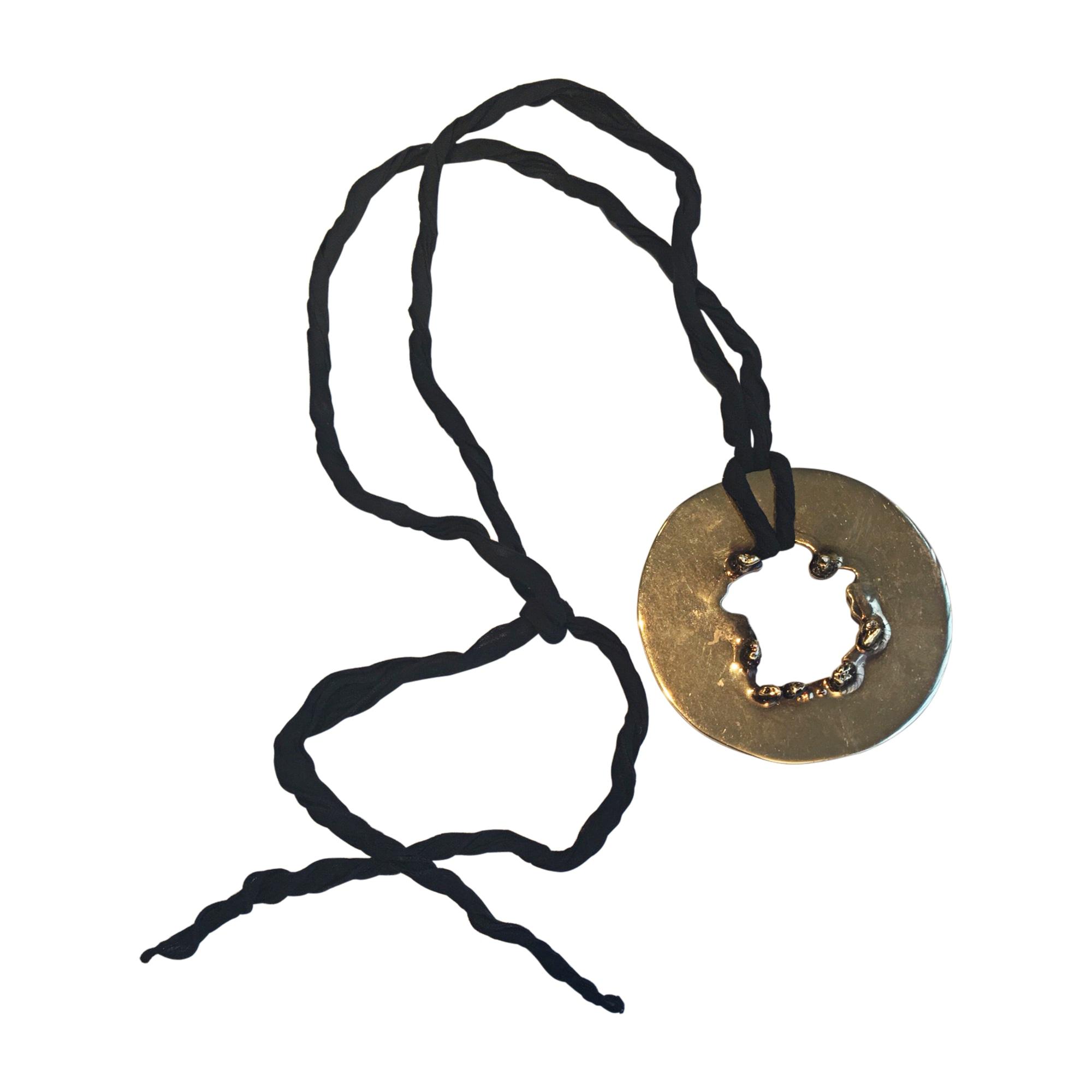Collier CÉLINE Doré, bronze, cuivre