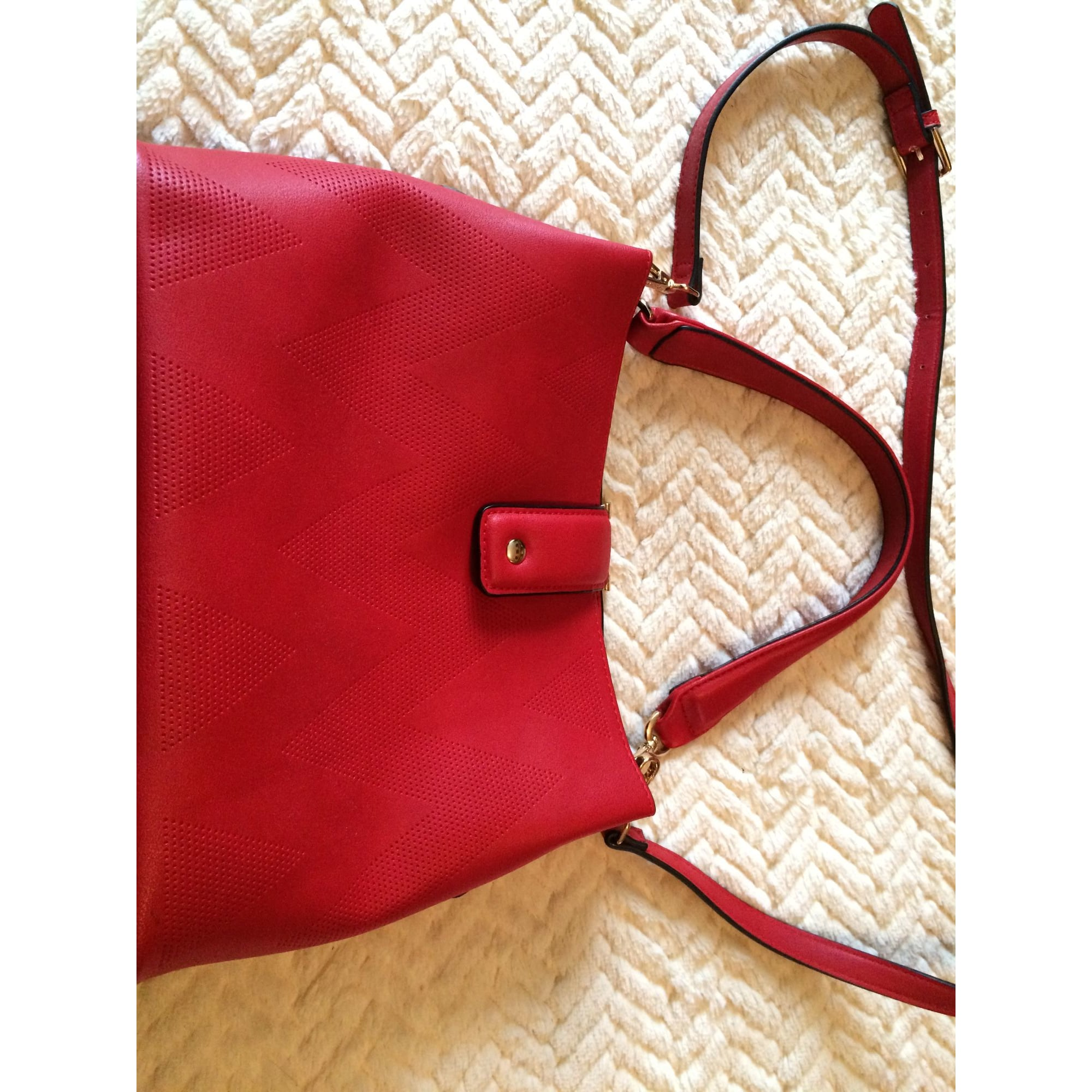 Sac à main en cuir TOM & EVA simili cuir  rouge
