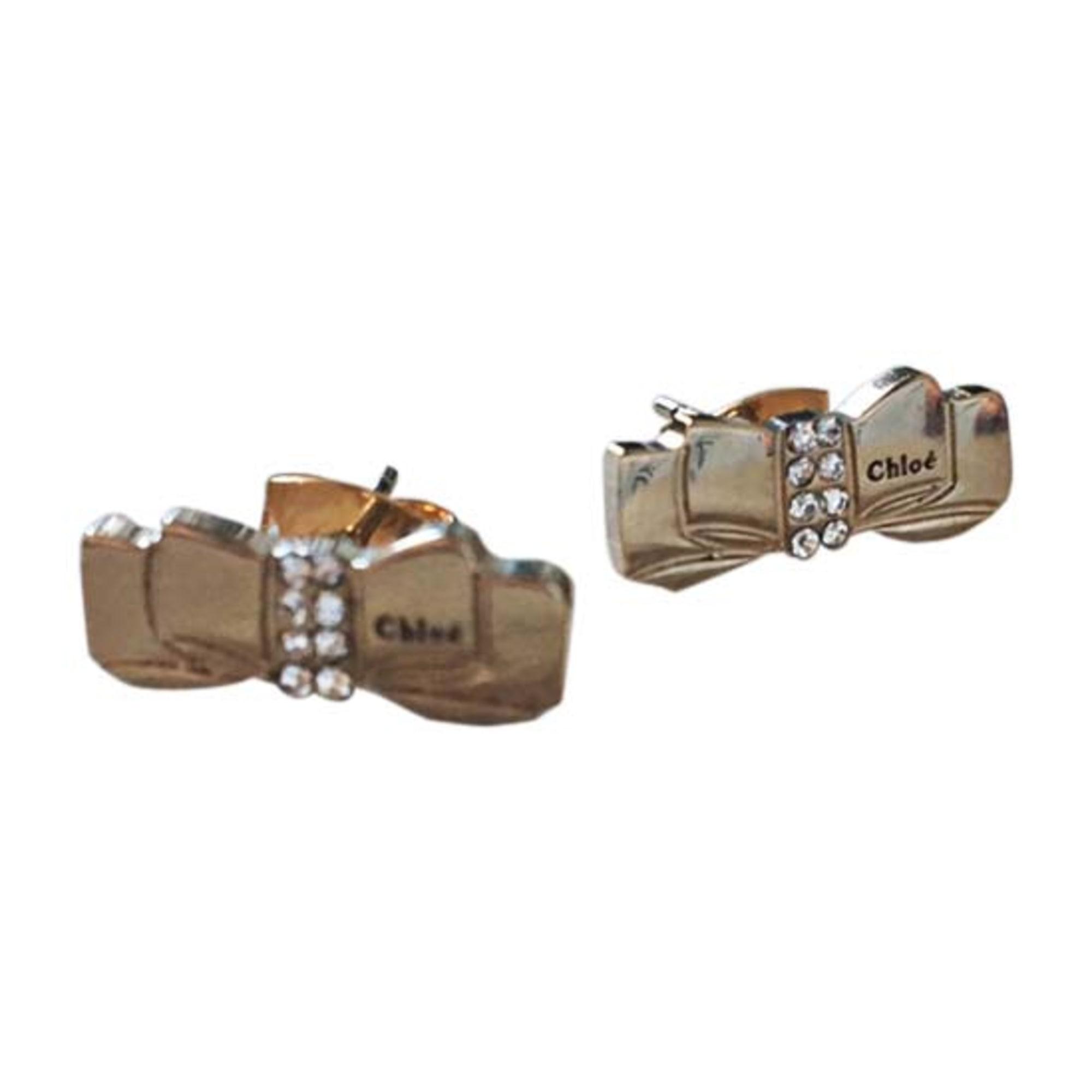 Boucles d'oreille CHLOÉ Doré, bronze, cuivre