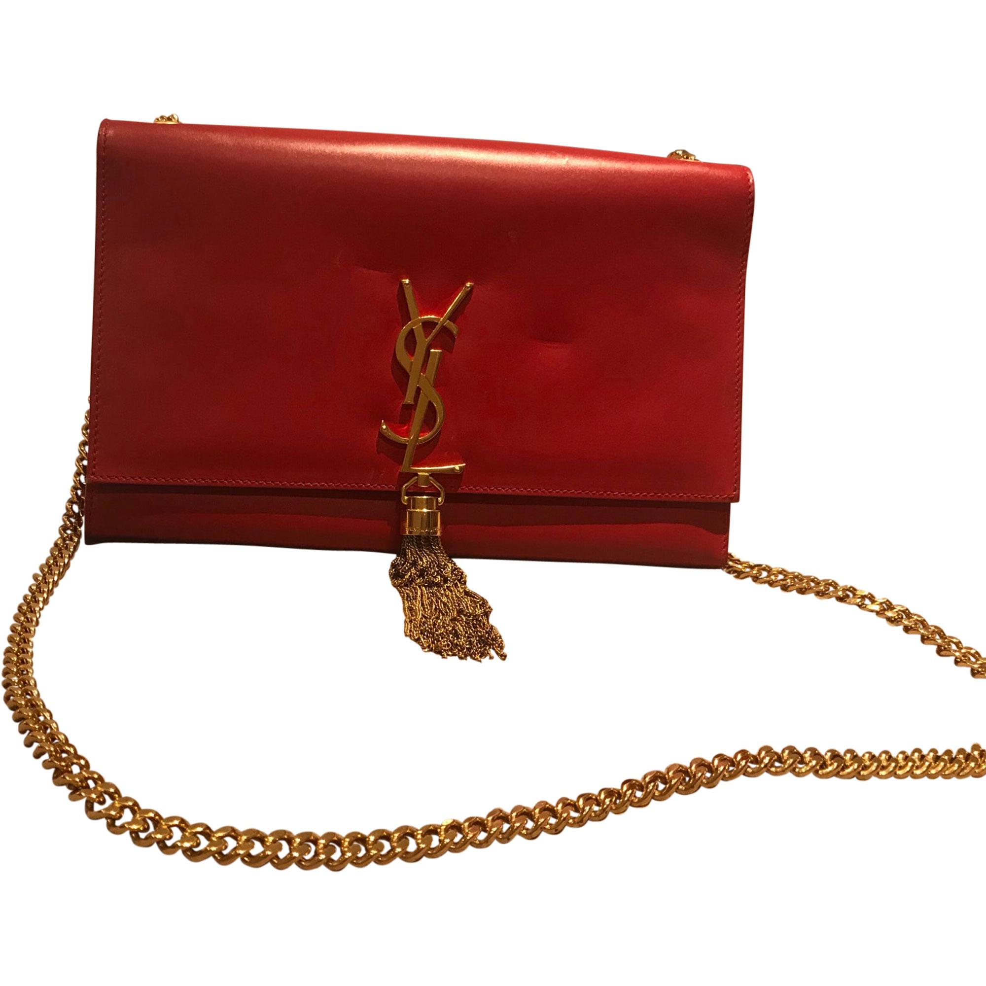 3094058766 Sac en bandoulière en cuir YVES SAINT LAURENT Rouge, bordeaux