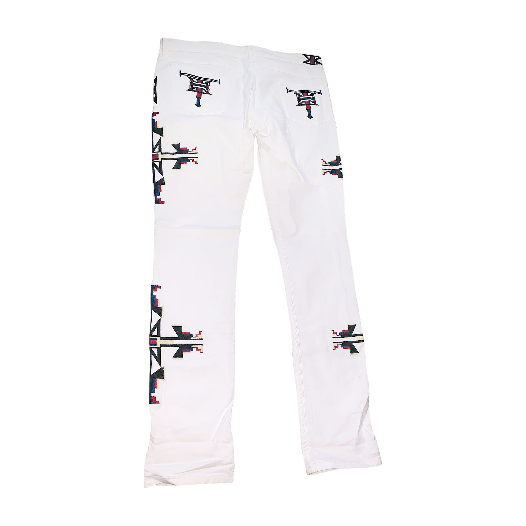 Jeans slim ISABEL MARANT Blanc, blanc cassé, écru