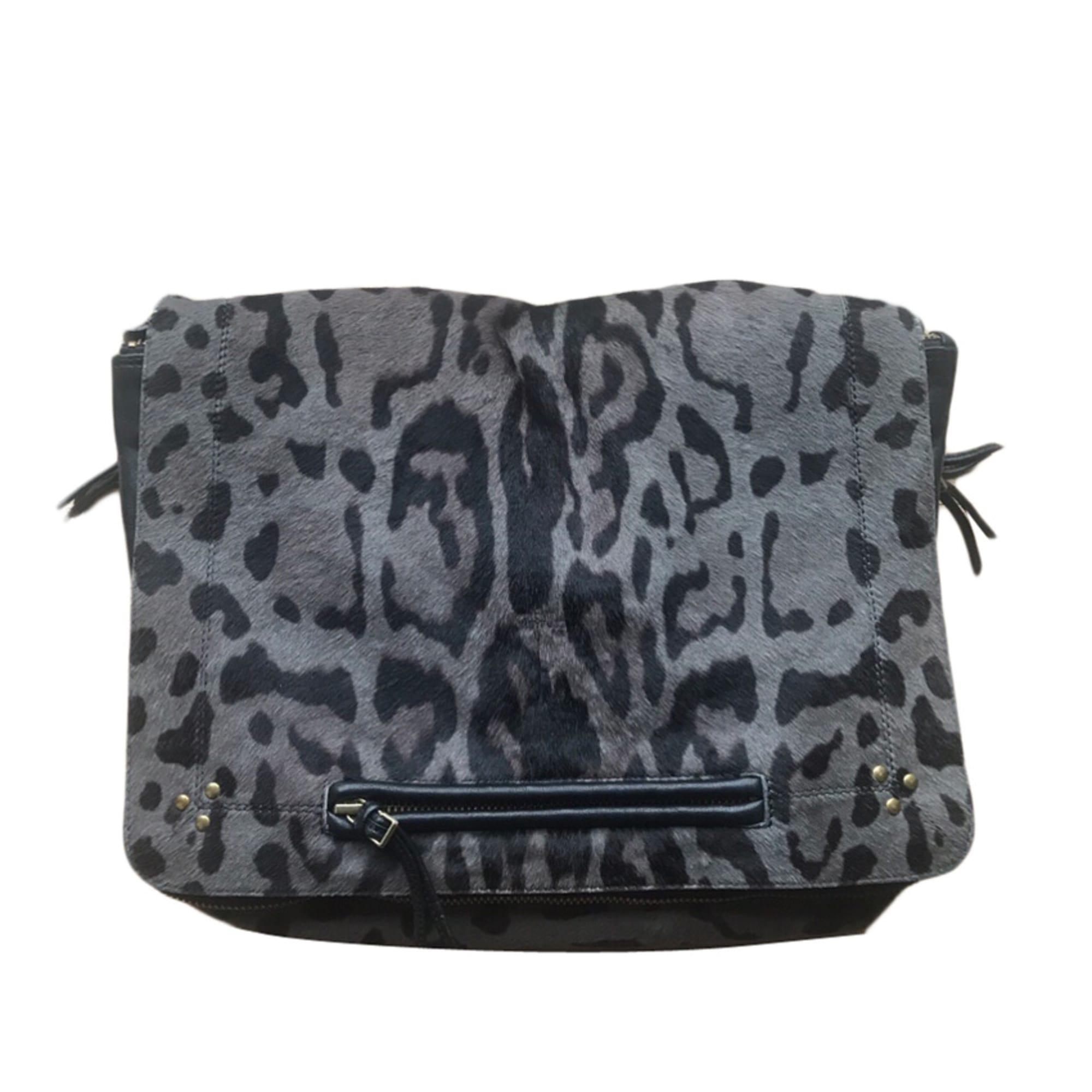 Leather Shoulder Bag JEROME DREYFUSS Animal prints