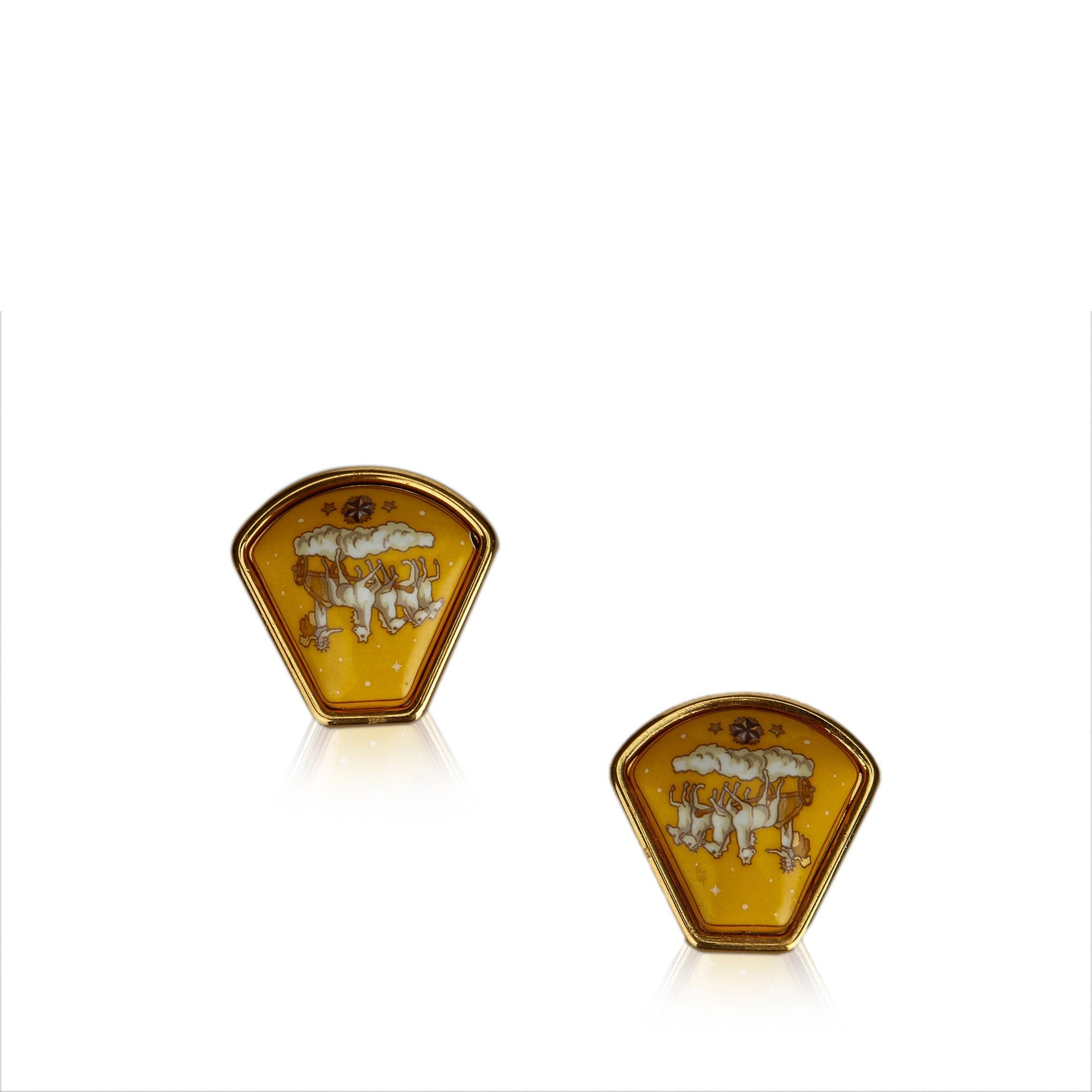 Boucles d'oreille HERMÈS Gold