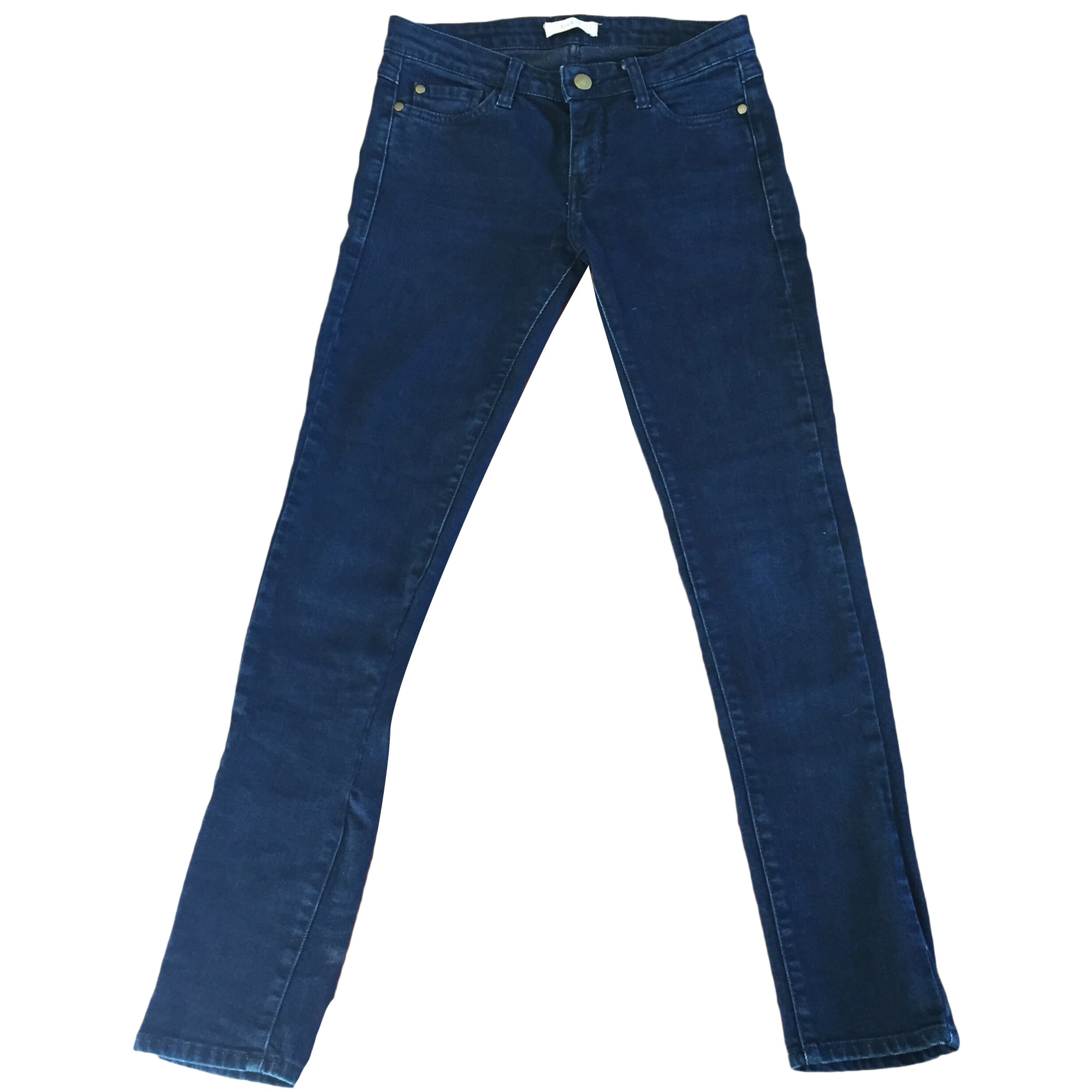 Jeans slim BA&SH Blu, blu navy, turchese
