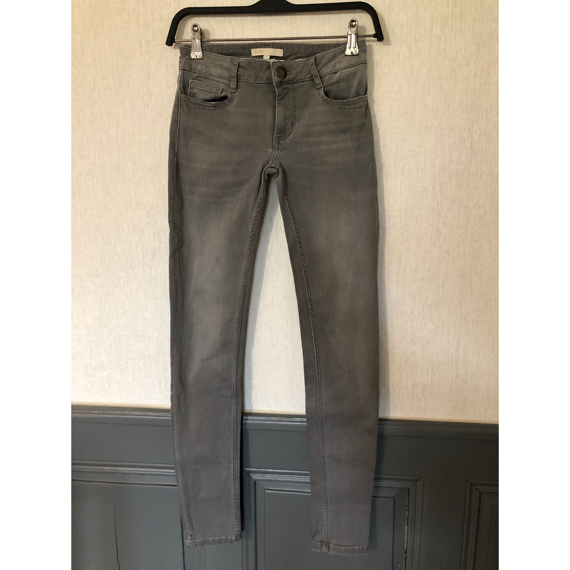 Jeans slim MAJE Grigio, antracite