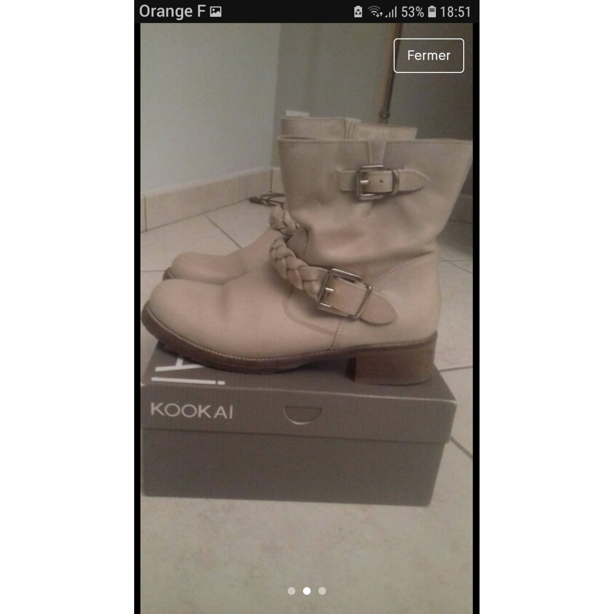 Bottines & low boots plates KOOKAI Beige, camel