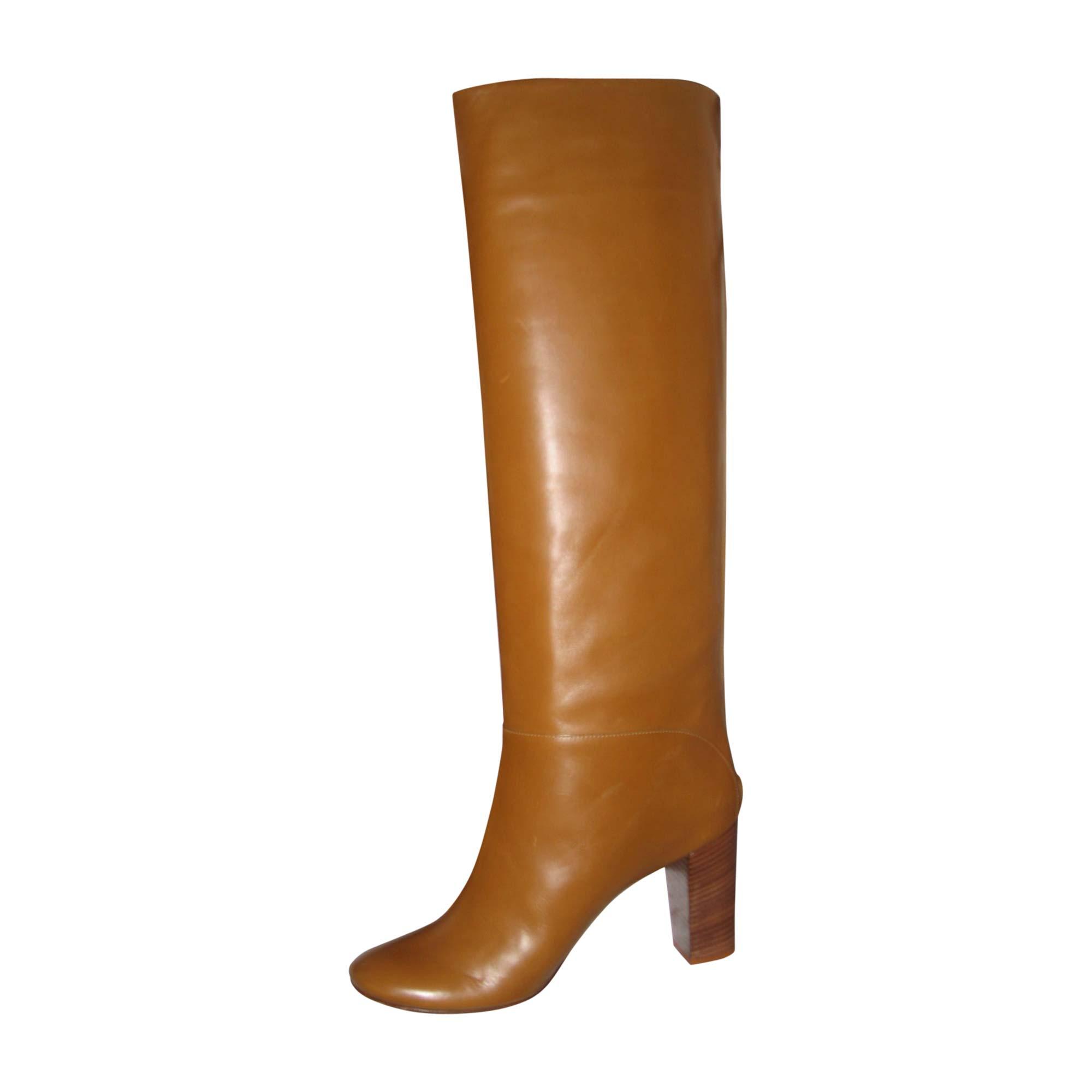 Stivali con tacchi CÉLINE Beige, cammello