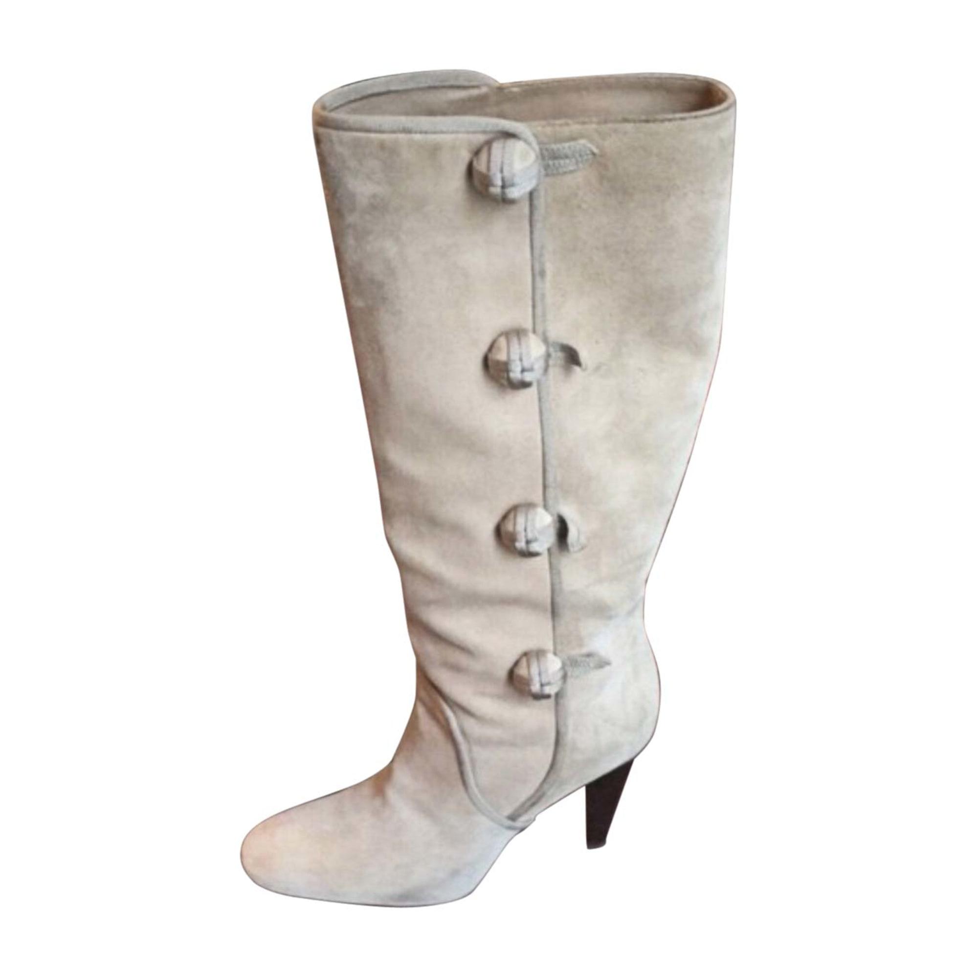 Stivali con tacchi CÉLINE Bianco, bianco sporco, ecru
