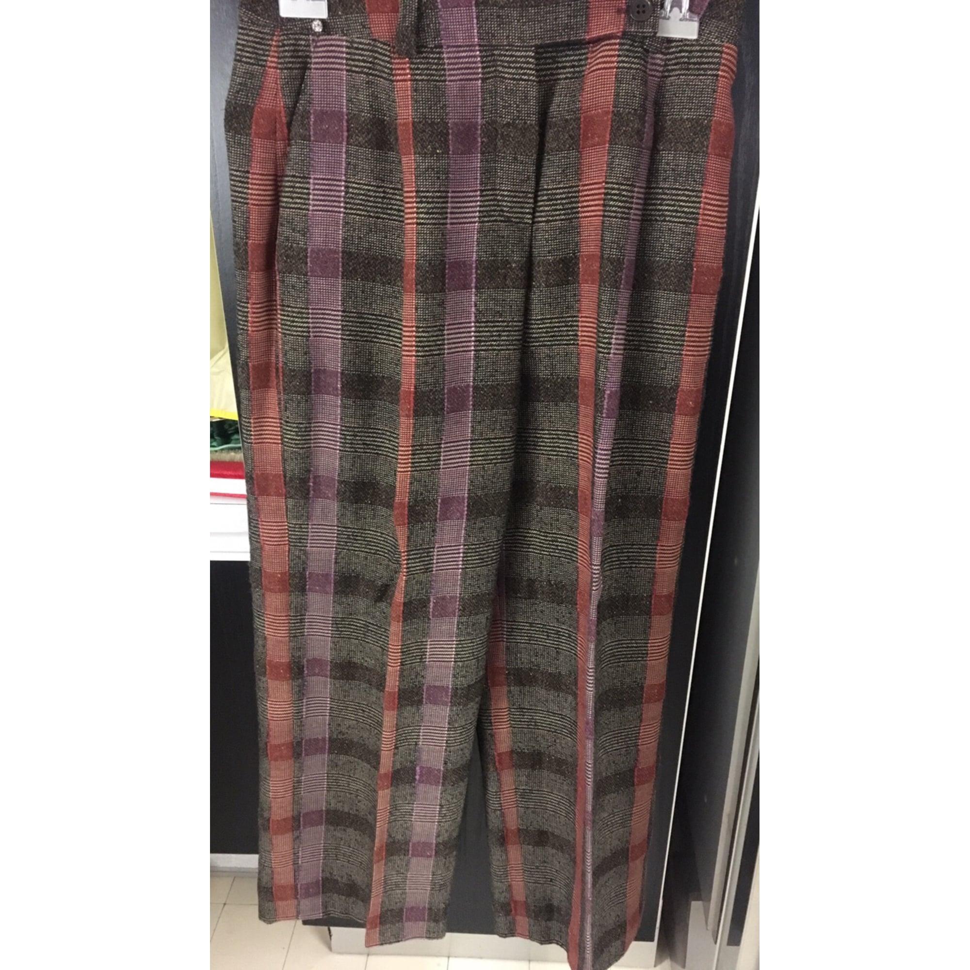 Pantalon droit SONIA RYKIEL Gris, anthracite