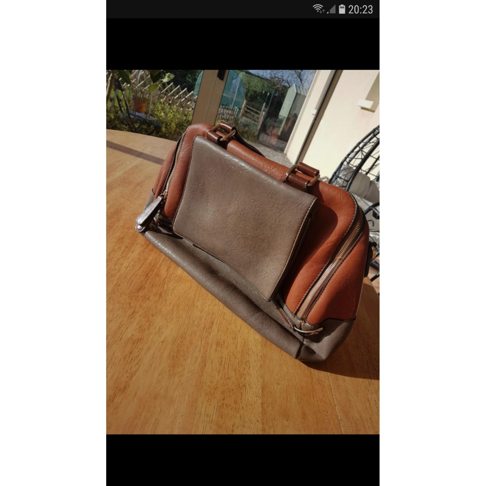 505360a8a9 Sac à main en cuir LANGRAND marron - 8553730