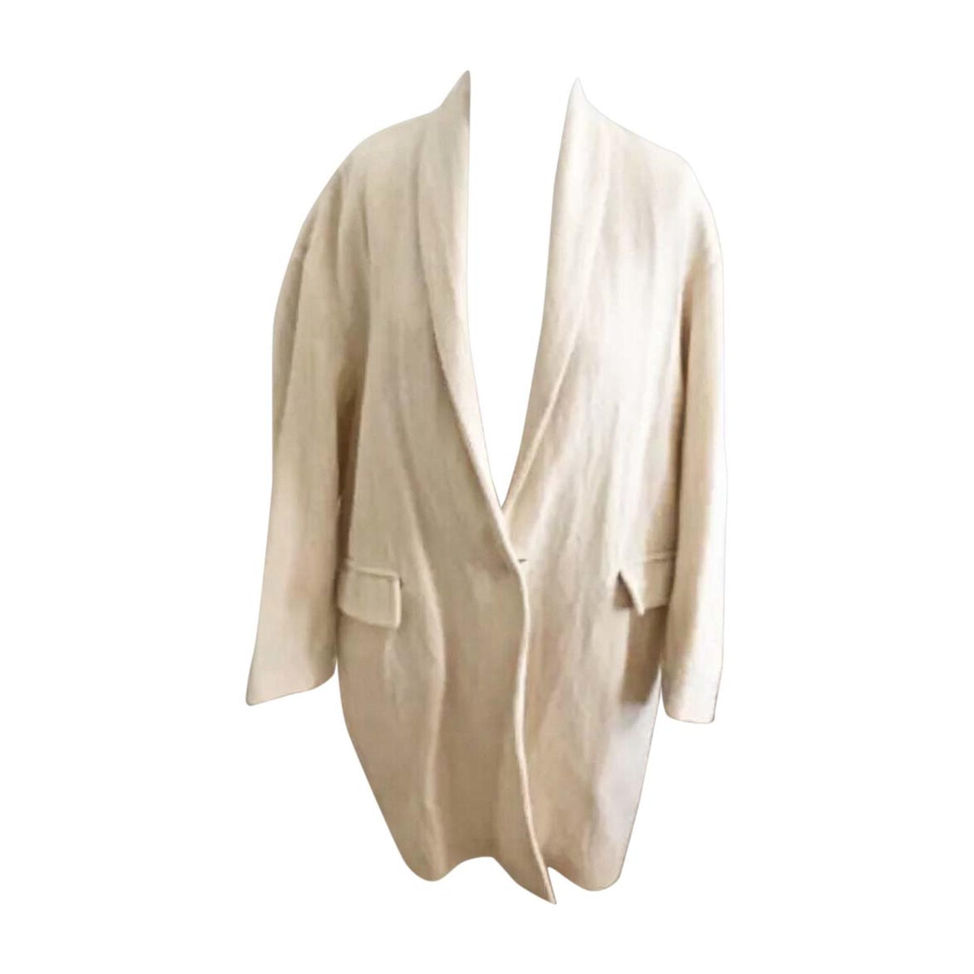 Manteau ISABEL MARANT Blanc, blanc cassé, écru