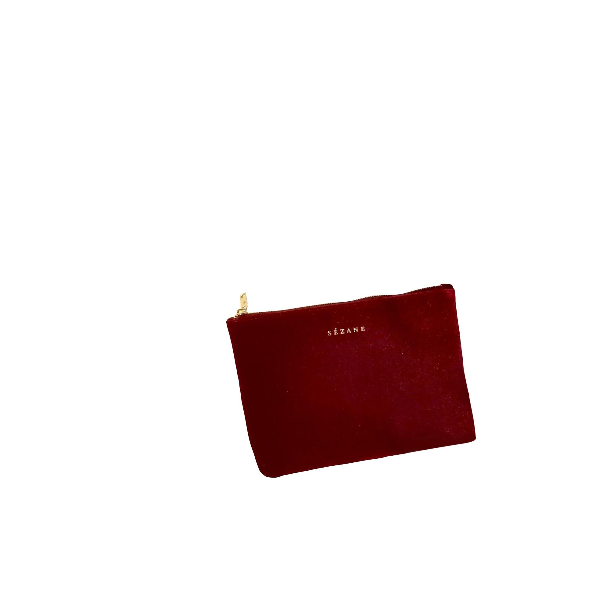 Sac pochette en tissu SÉZANE velours rouge