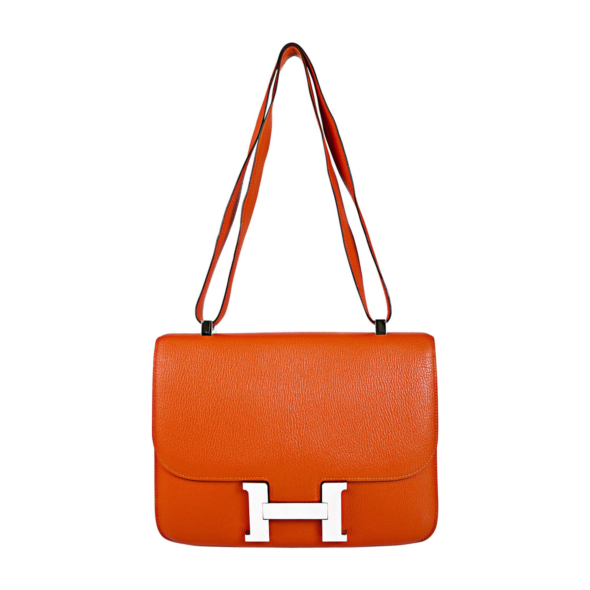 4e7b71af173 Sac en bandoulière en cuir HERMÈS constance orange - 8561596