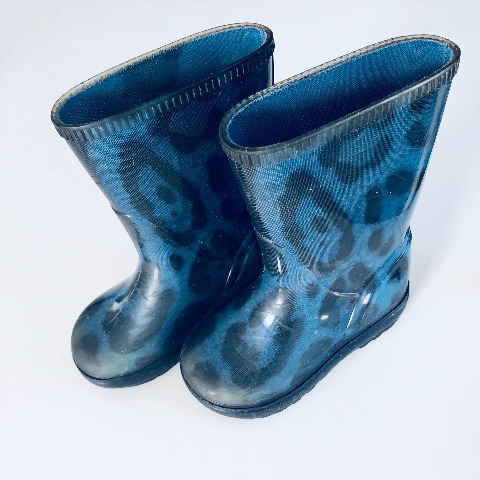 Bottes de pluie DOLCE & GABBANA caoutchouc bleu 24