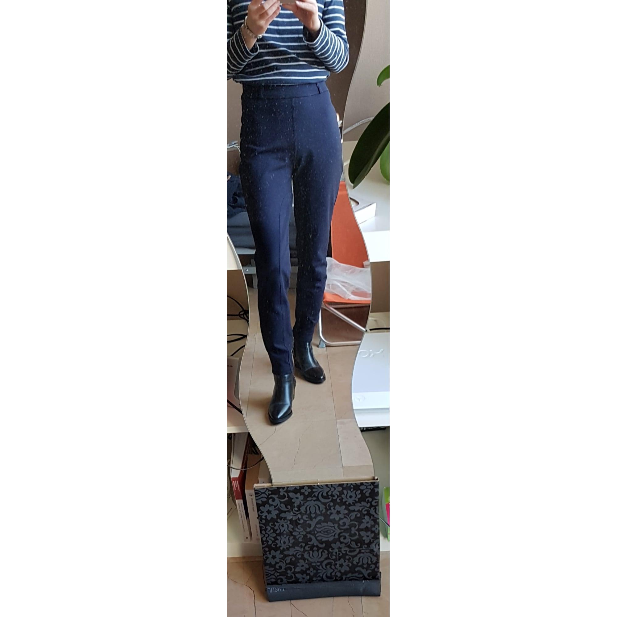 Pantalon slim, cigarette KOOKAI Bleu, bleu marine, bleu turquoise