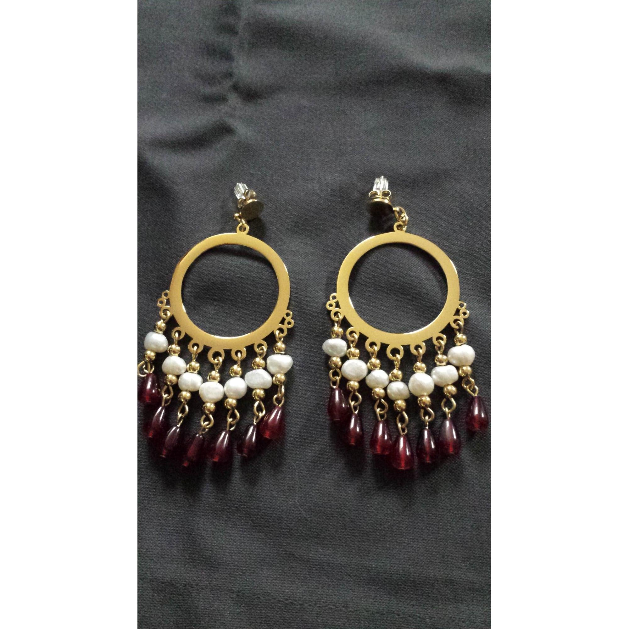 Boucles d'oreille ZABOK acier doré
