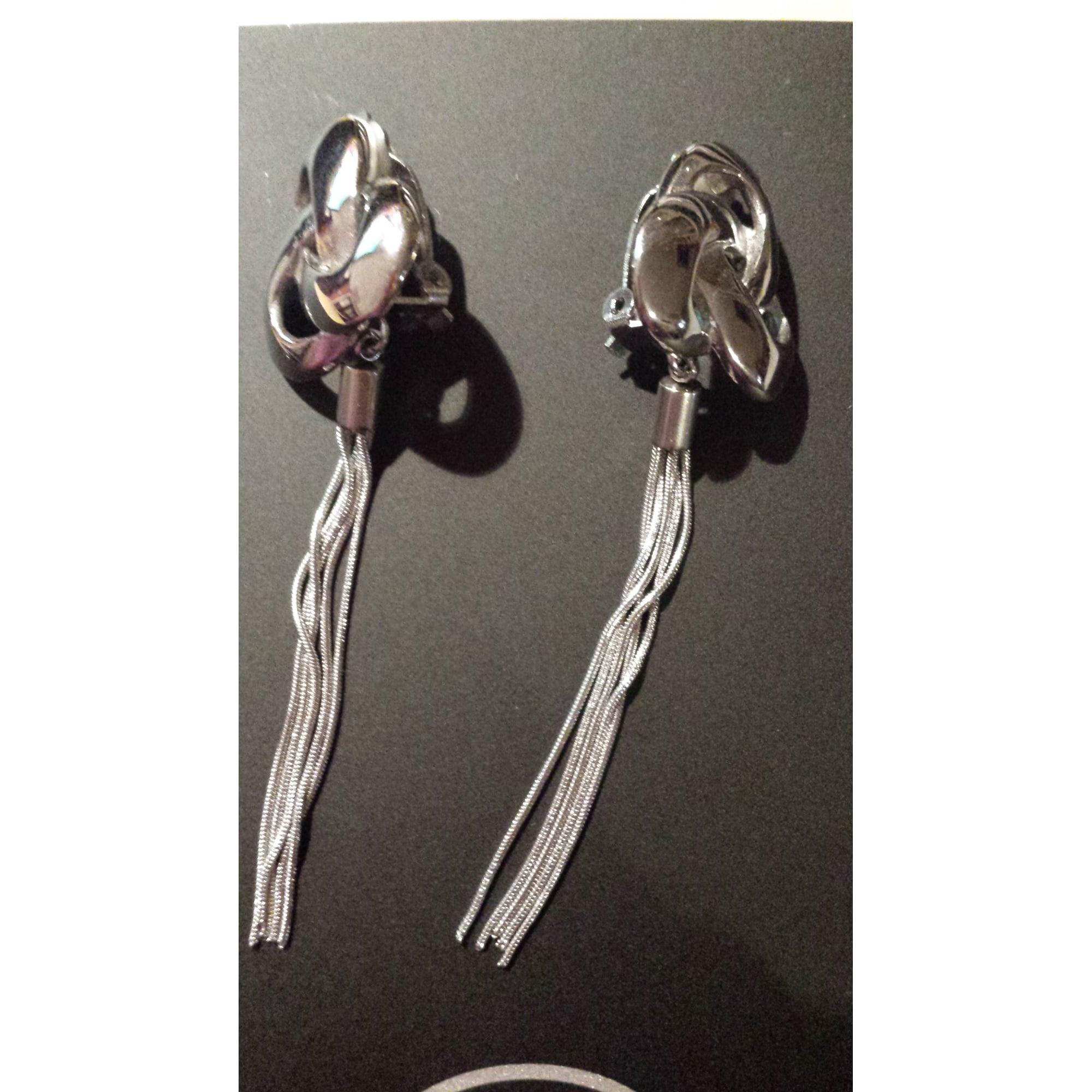 Boucles d'oreille ZABOK acier argent