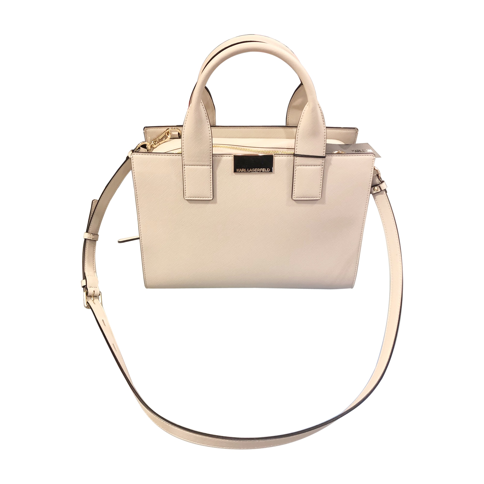 Non-Leather Handbag KARL LAGERFELD Beige, camel