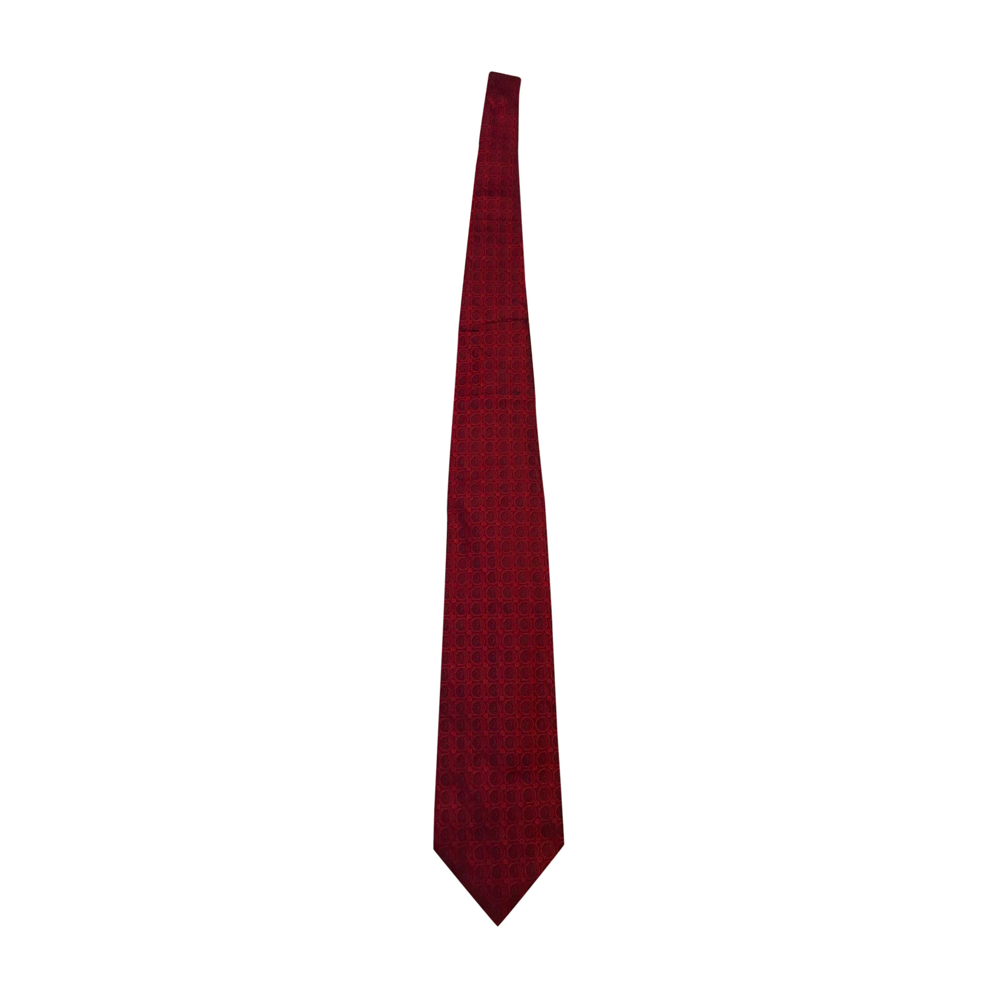 Cravate GIVENCHY Rouge, bordeaux