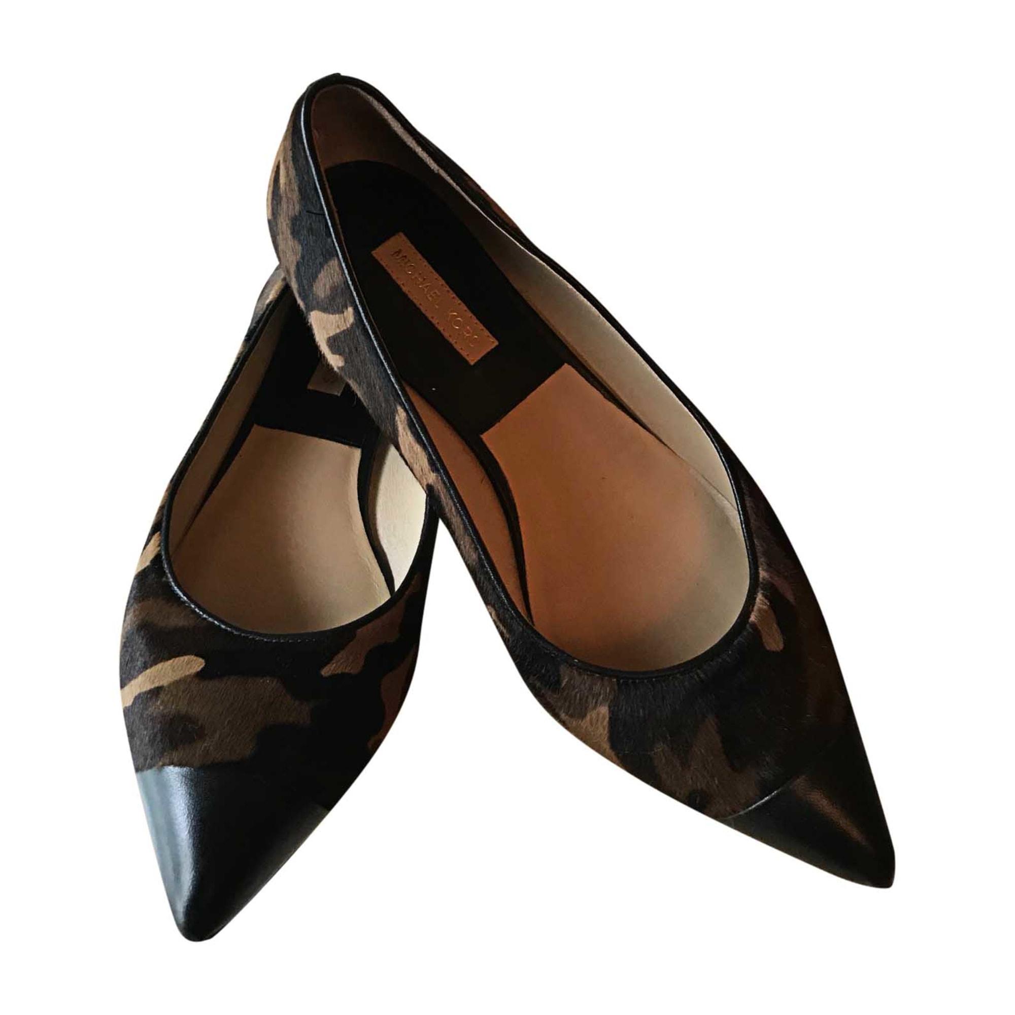 Ballet Flats MICHAEL KORS Camouflage marron noir