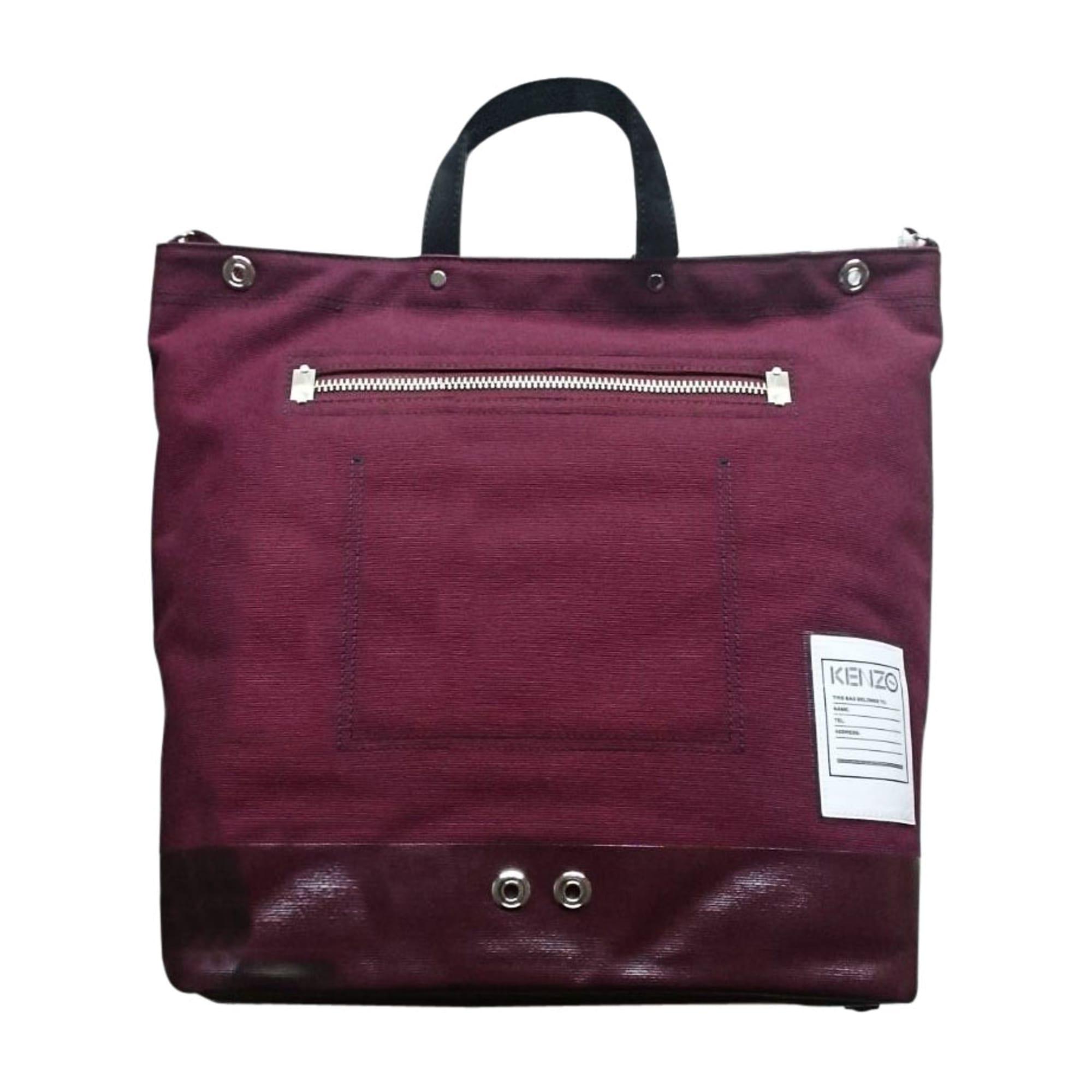 Non-Leather Handbag KENZO Red, burgundy