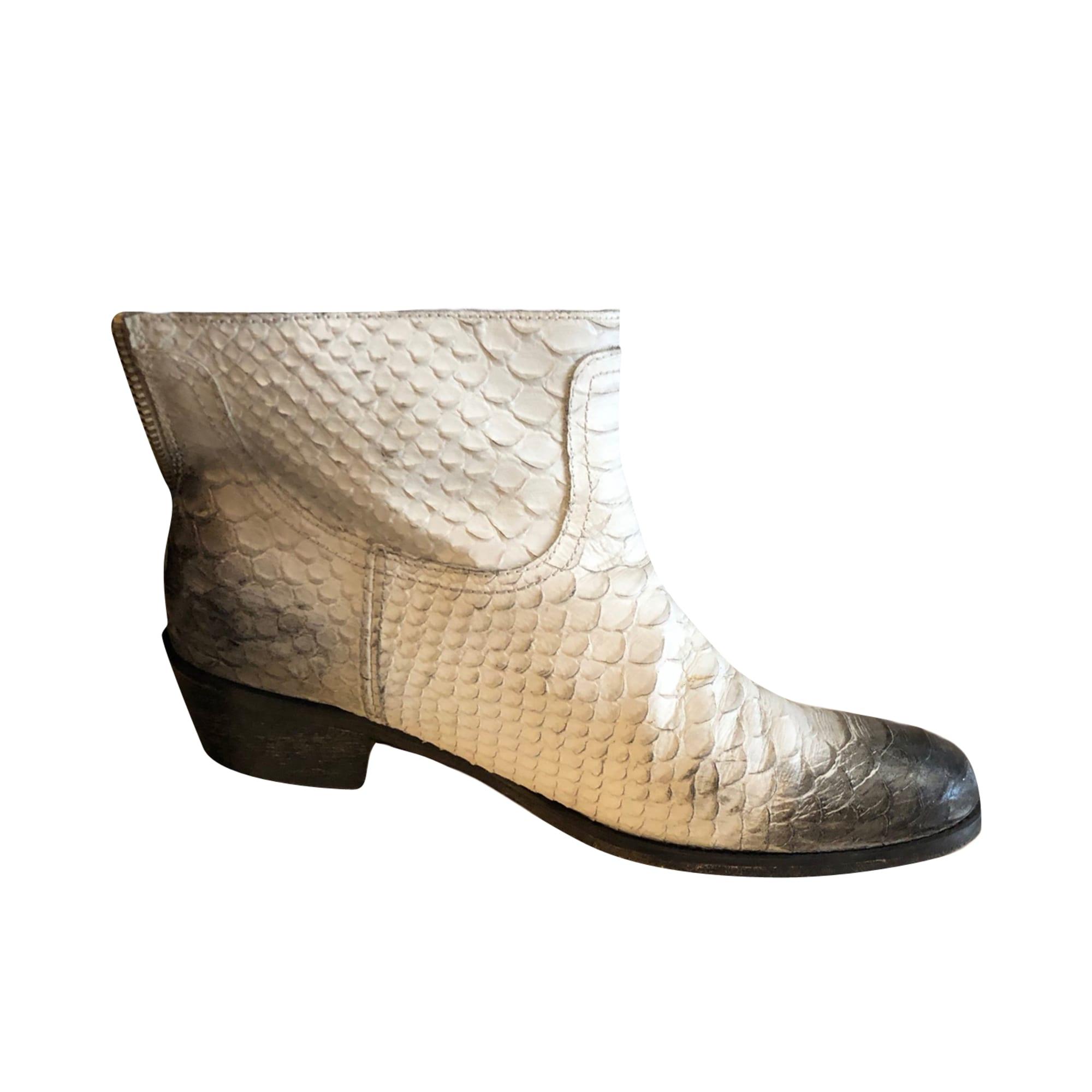 Stivali a punta, stivali cowboy ZADIG & VOLTAIRE Bianco, bianco sporco, ecru