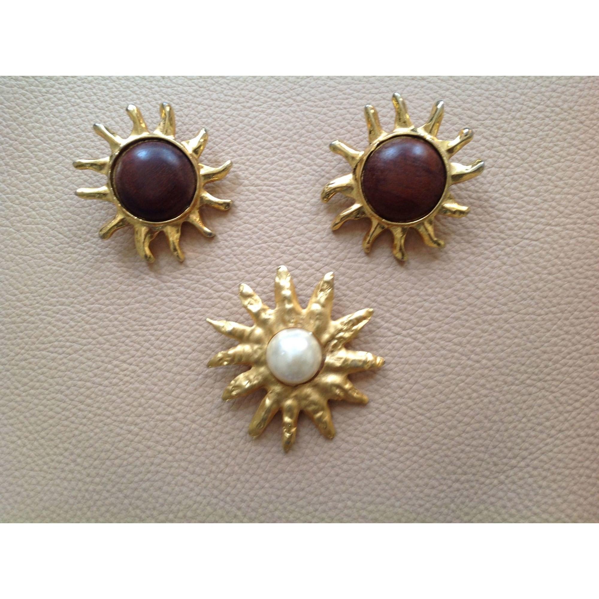 Parure bijoux EDOUARD RAMBAUD métal doré
