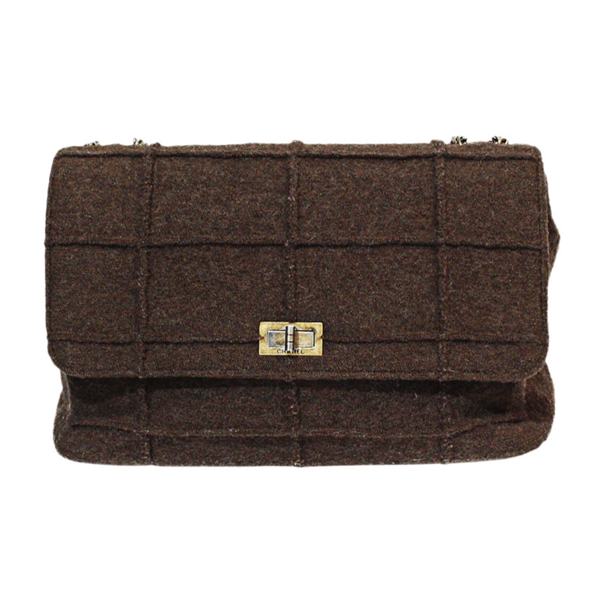 Non-Leather Shoulder Bag CHANEL Brown