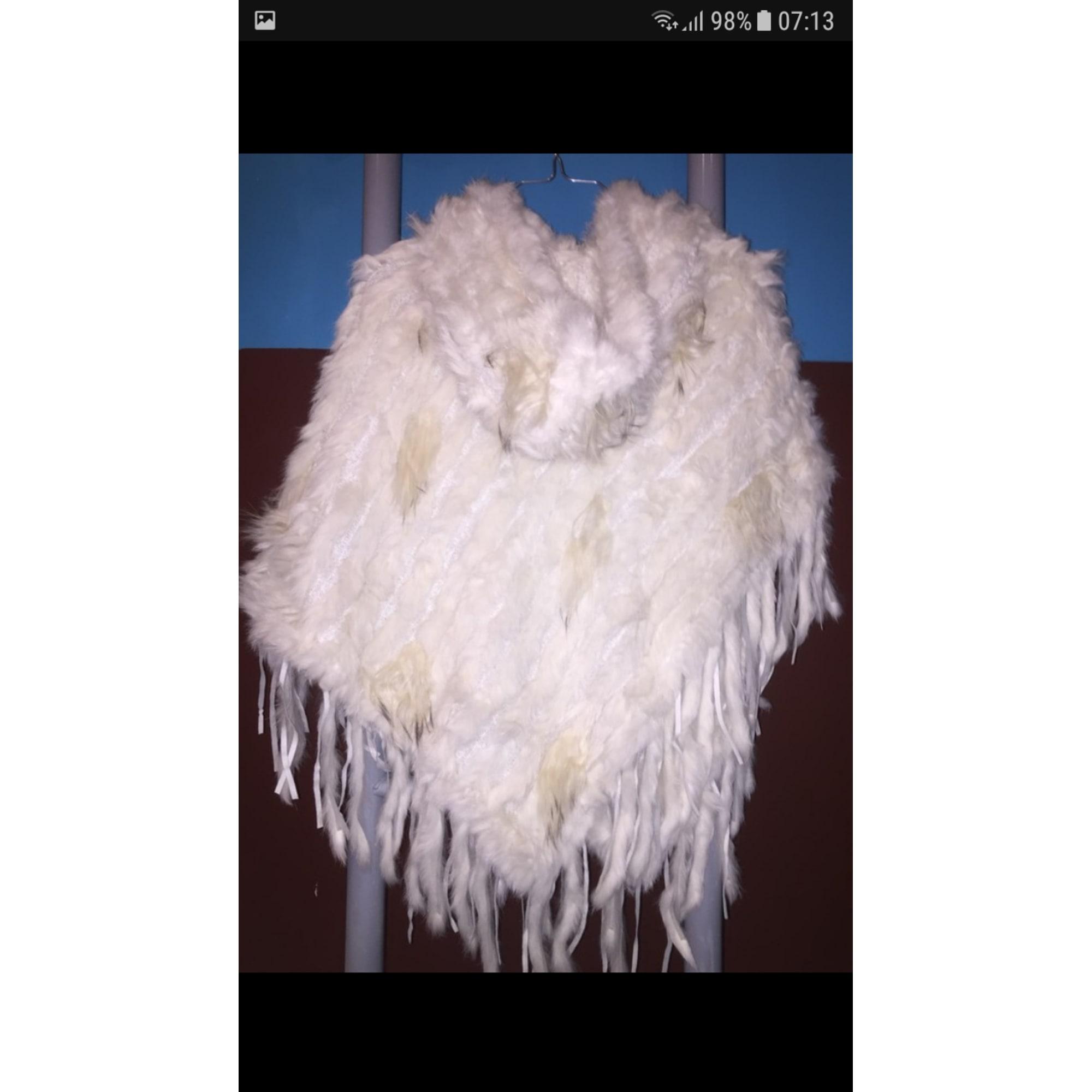 Blouson, veste en fourrure MARQUE INCONNUE Blanc, blanc cassé, écru